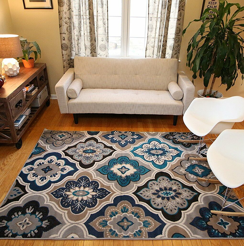 Mcelrath Blue/Brown Area Rug Rug Size: Rectangle 7'10