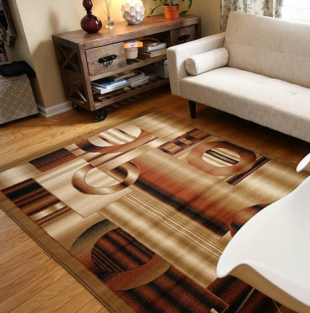 Andreas Brown Area Rug Rug Size: Rectangle 9'10