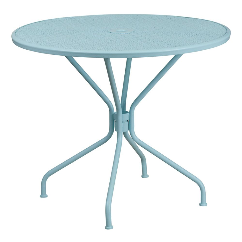 Alize Metal Dining Table Color: Blue