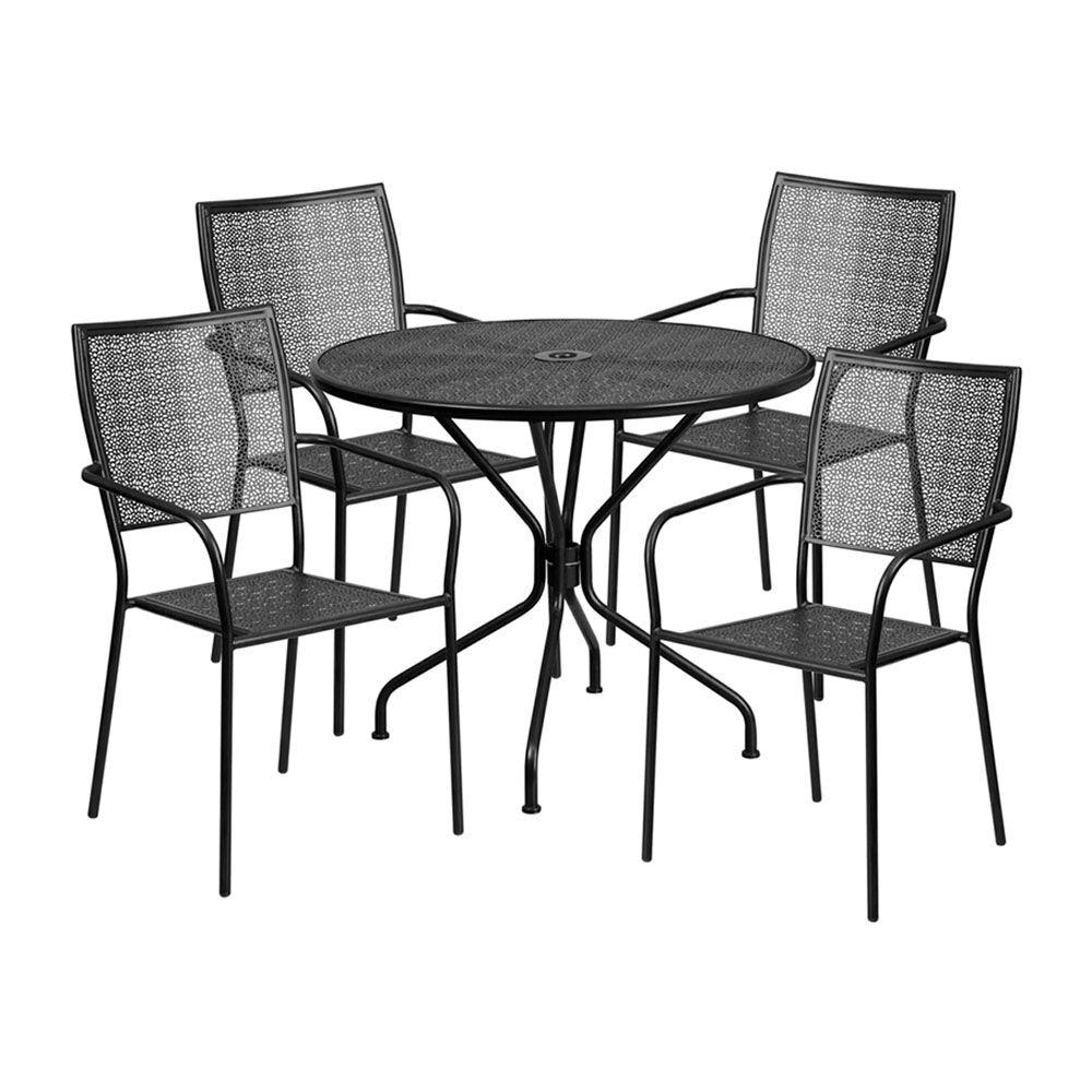 Speers Outdoor Steel 5 Piece Dining Set