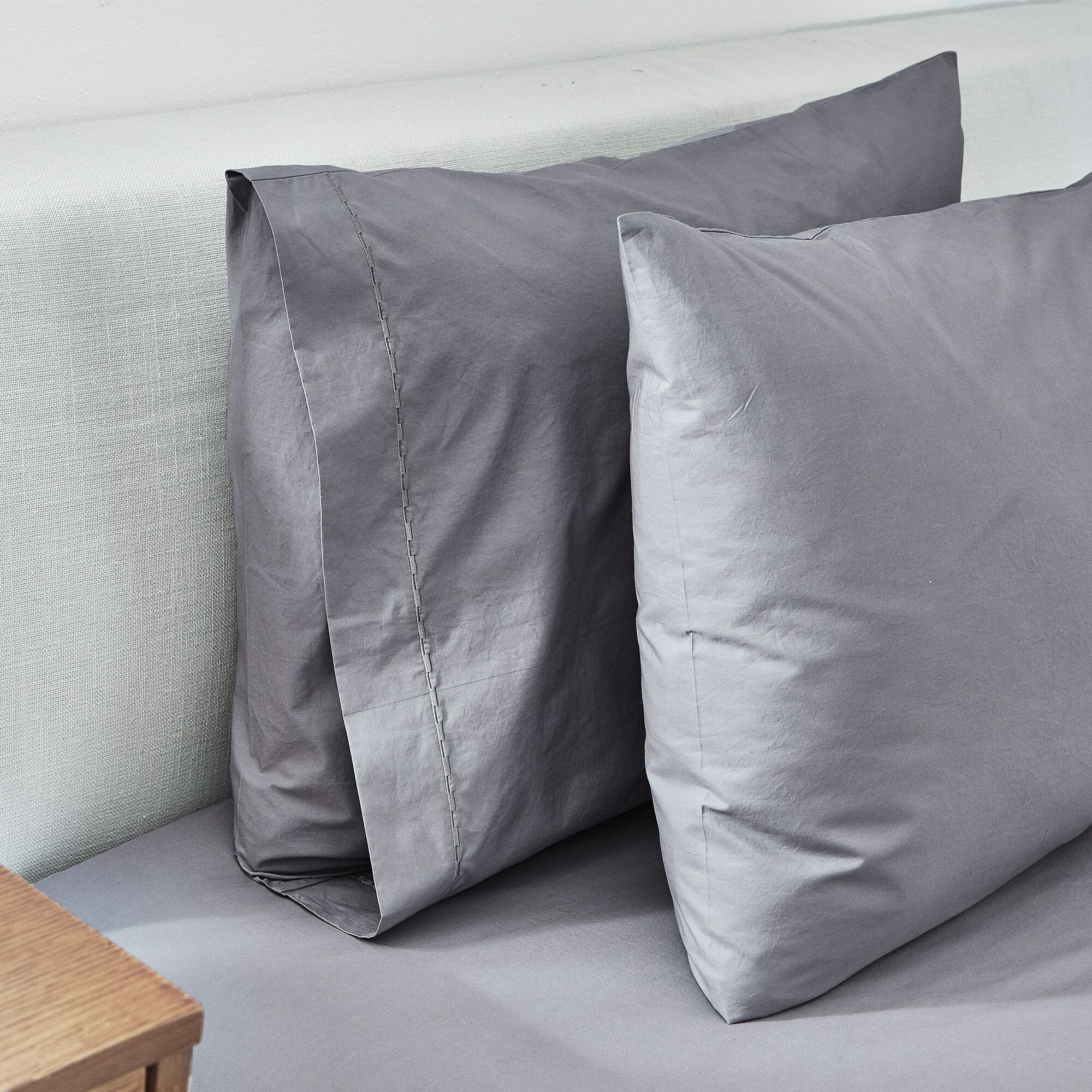 Percale 350 Thread Count Sheet Set Color: Gray, Size: Queen