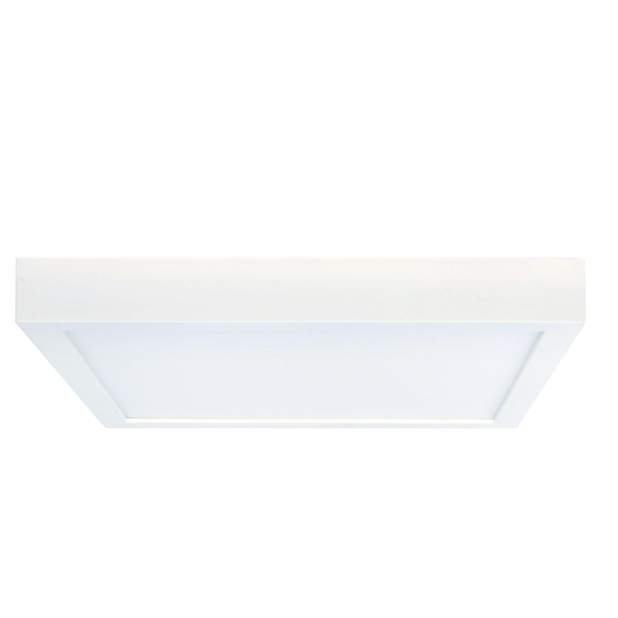 Lyla 1-Light LED Flush Mount Bulb Color Temperature: 3000K, Fixture Finish: White