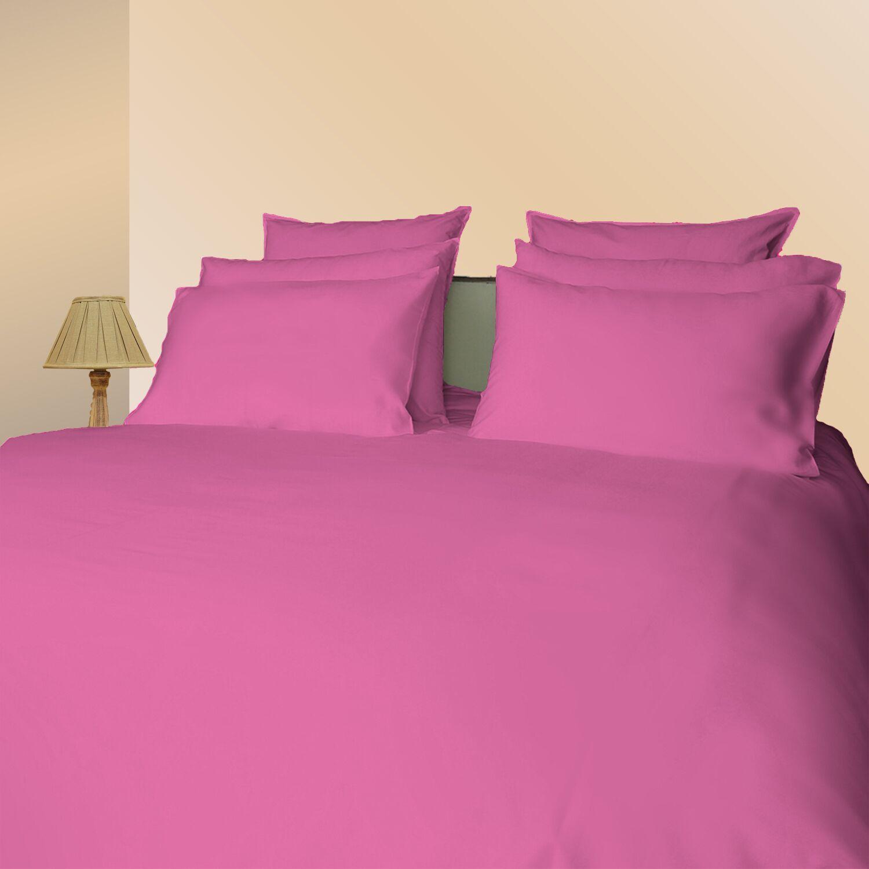 Hungate Sateen Solid 300 Thread Count 100% Cotton Sheet Set Color: Sachet Pink, Size: European King