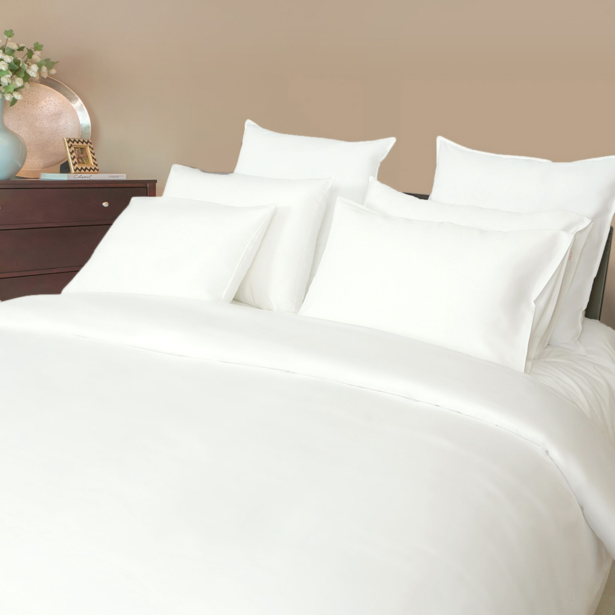 Hypes Sateen Solid 500 Thread Count 100% Cotton Sheet Set Size: King, Color: Star White
