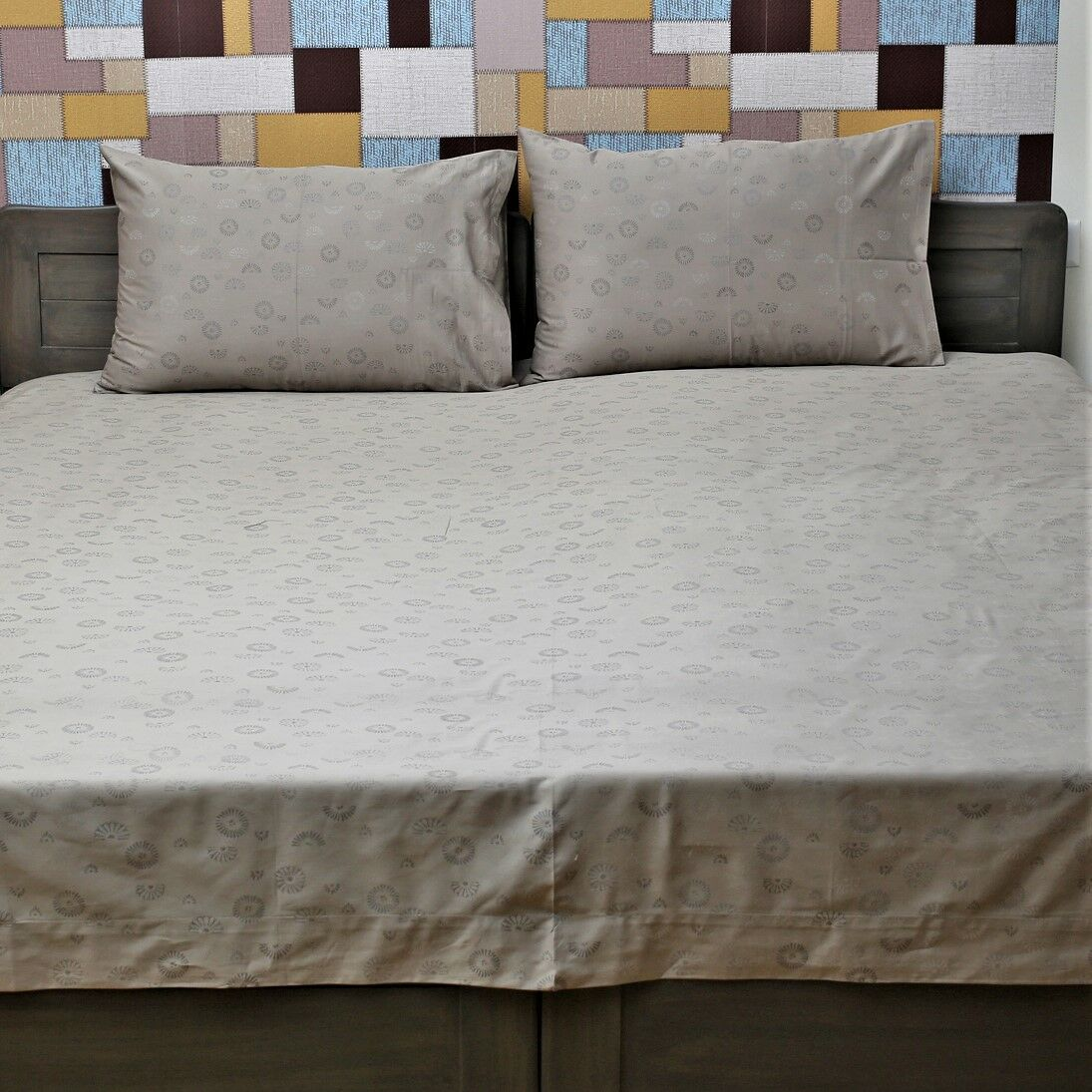 Huson Genuine Jacquard 350 Thread Count 100% Cotton Sheet Set Size: King