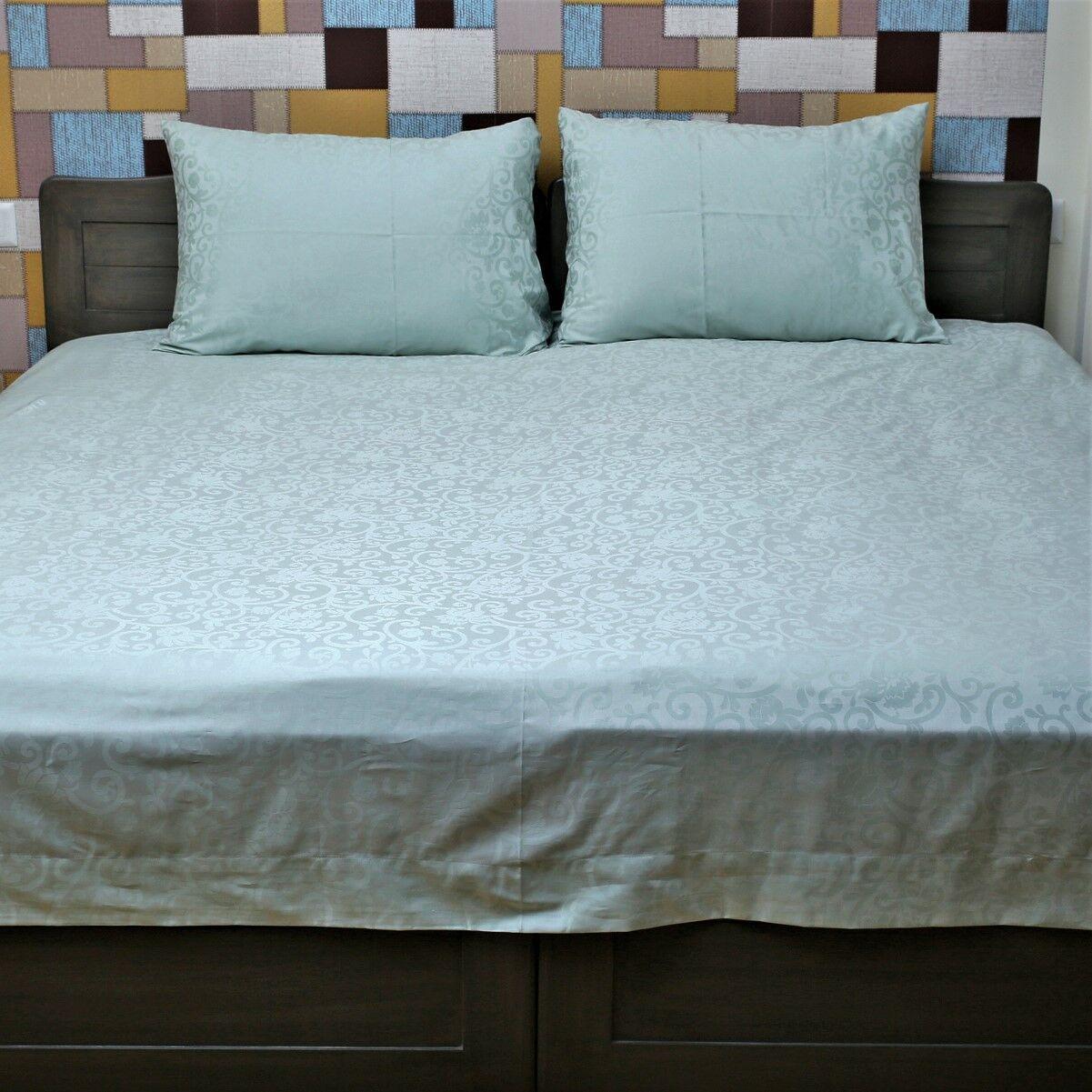 Iliomar Genuine Jacquard 350 Thread Count 100% Cotton Sheet Set Size: King