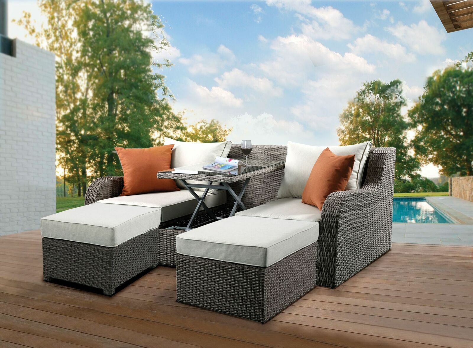 Salena Patio Sofa with Cushions