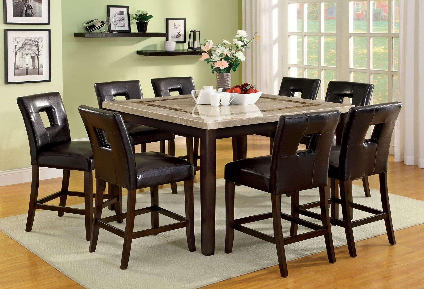 Dining Table Sets Huneycutt 9 Piece Counter Height Dining Set