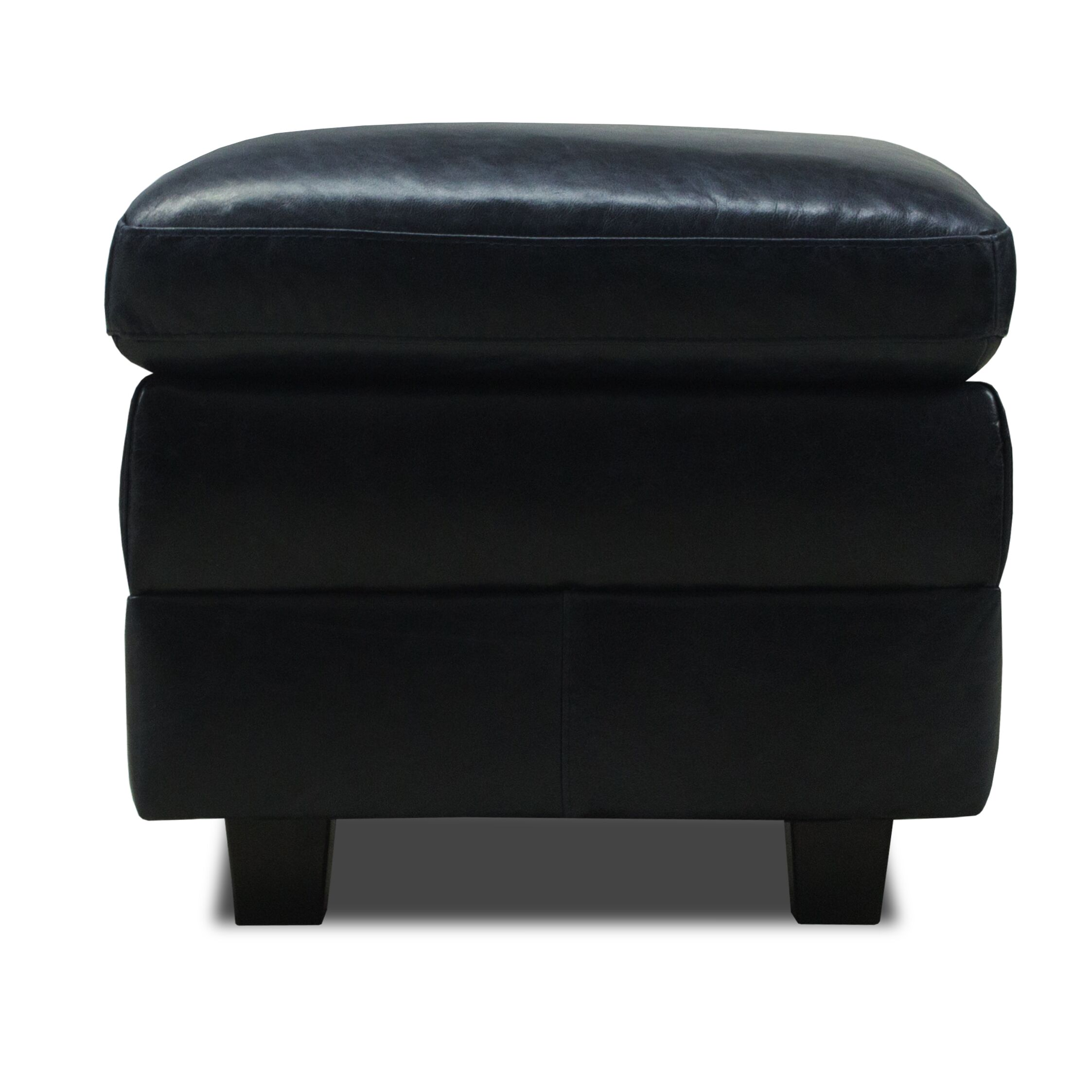 Buco Leather Storage Ottoman Upholstery Color: Midnight Blue