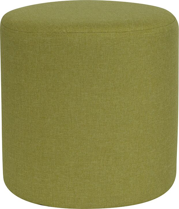 Ambrosia Upholstered Round Pouf Upholstery: Green