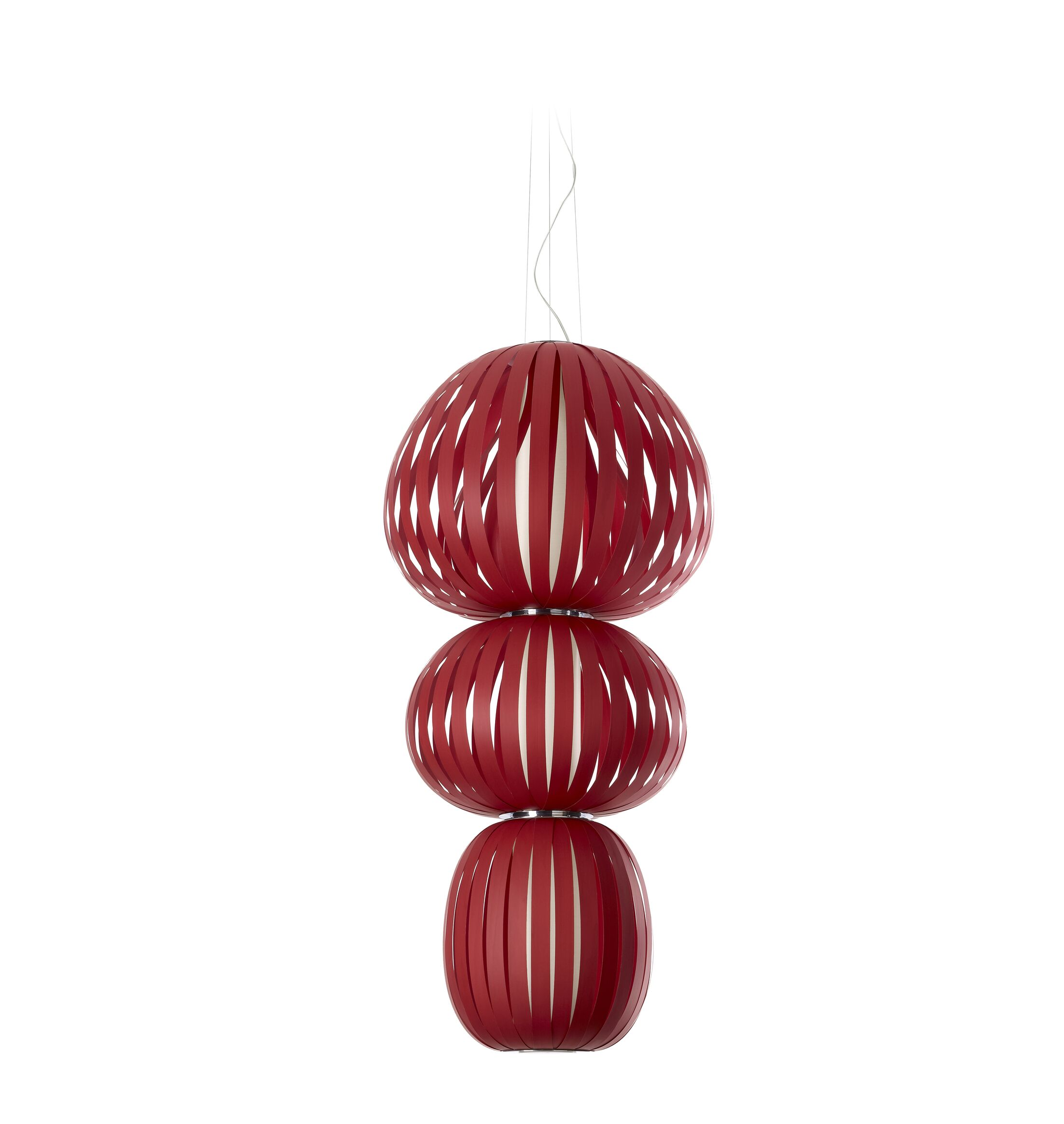 Totem LED Novelty Pendant Size: Small, Shade Color: Red