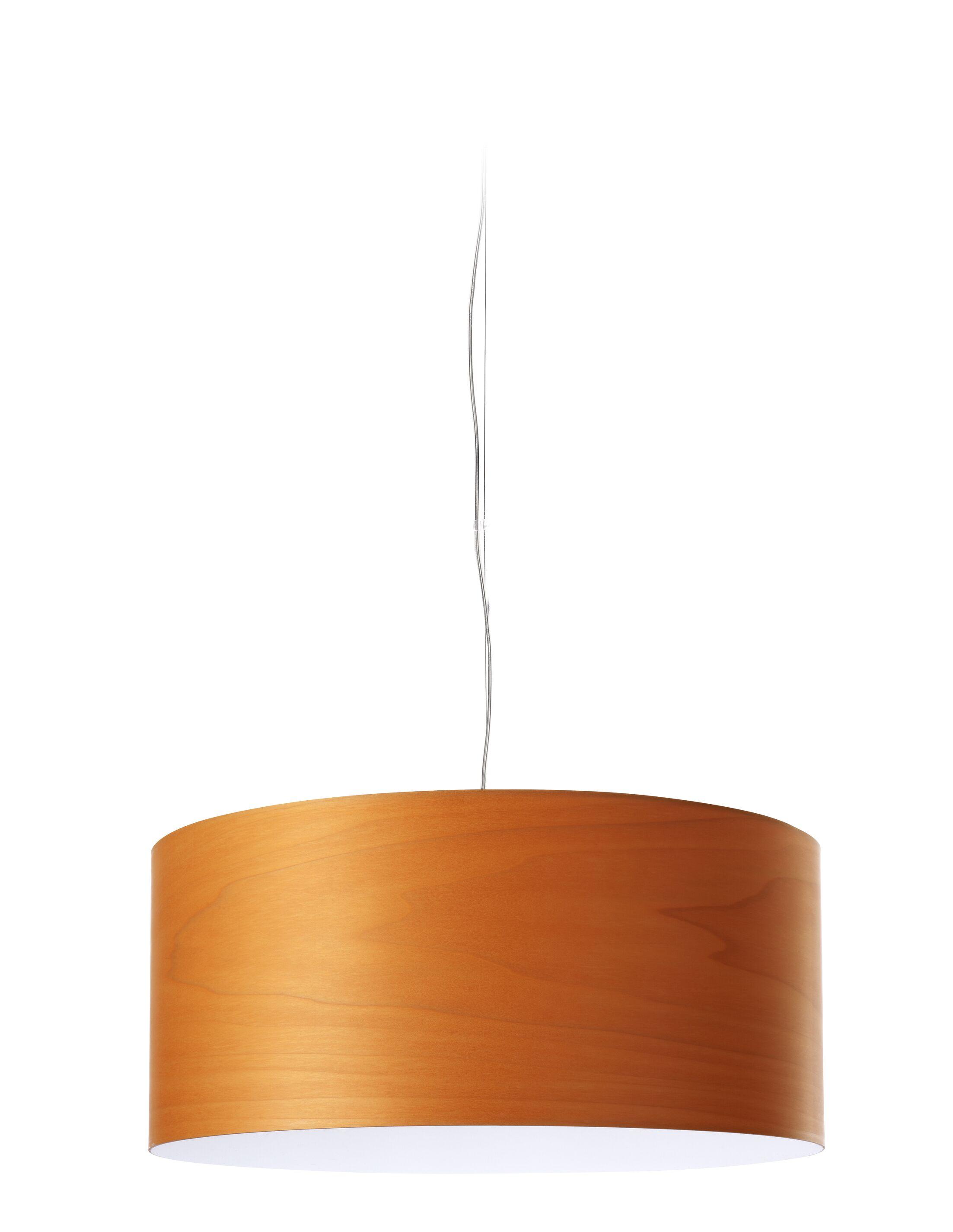 Gea LED Drum Pendant Shade Color: Orange