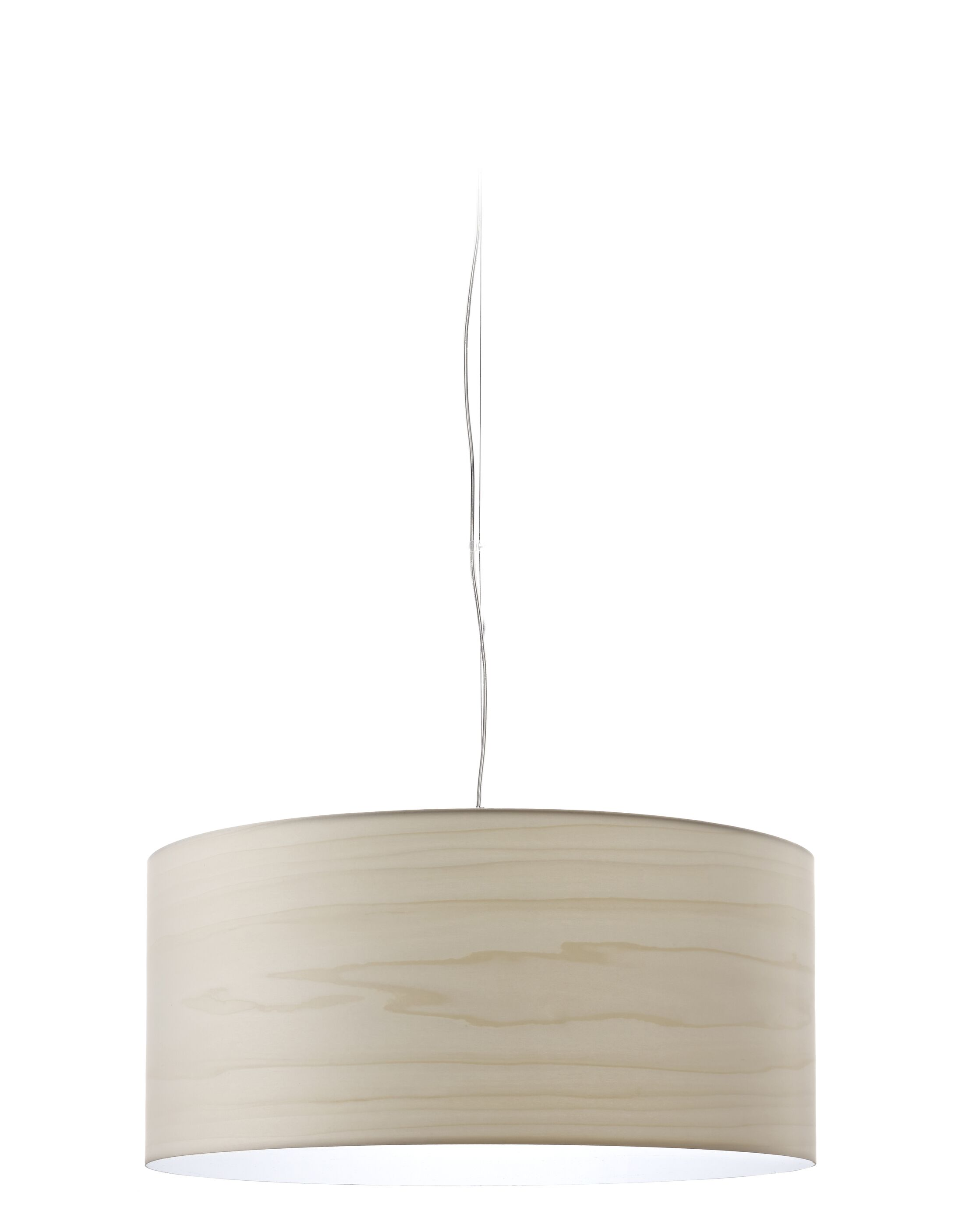Gea LED Drum Pendant Shade Color: Ivory Brushed Nickel