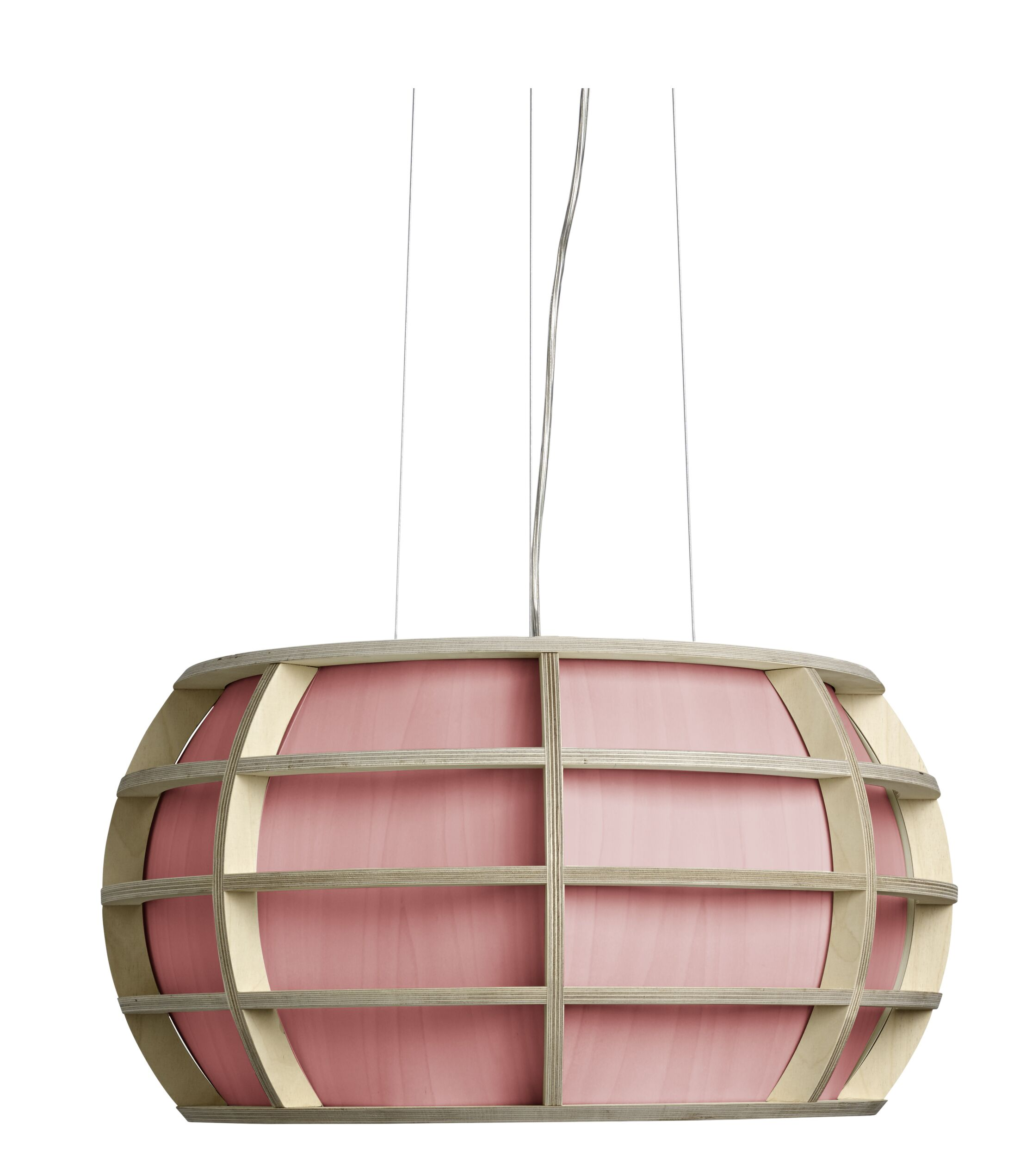 Kim LED Geometric Pendant Shade Color: Pink, Size: Small