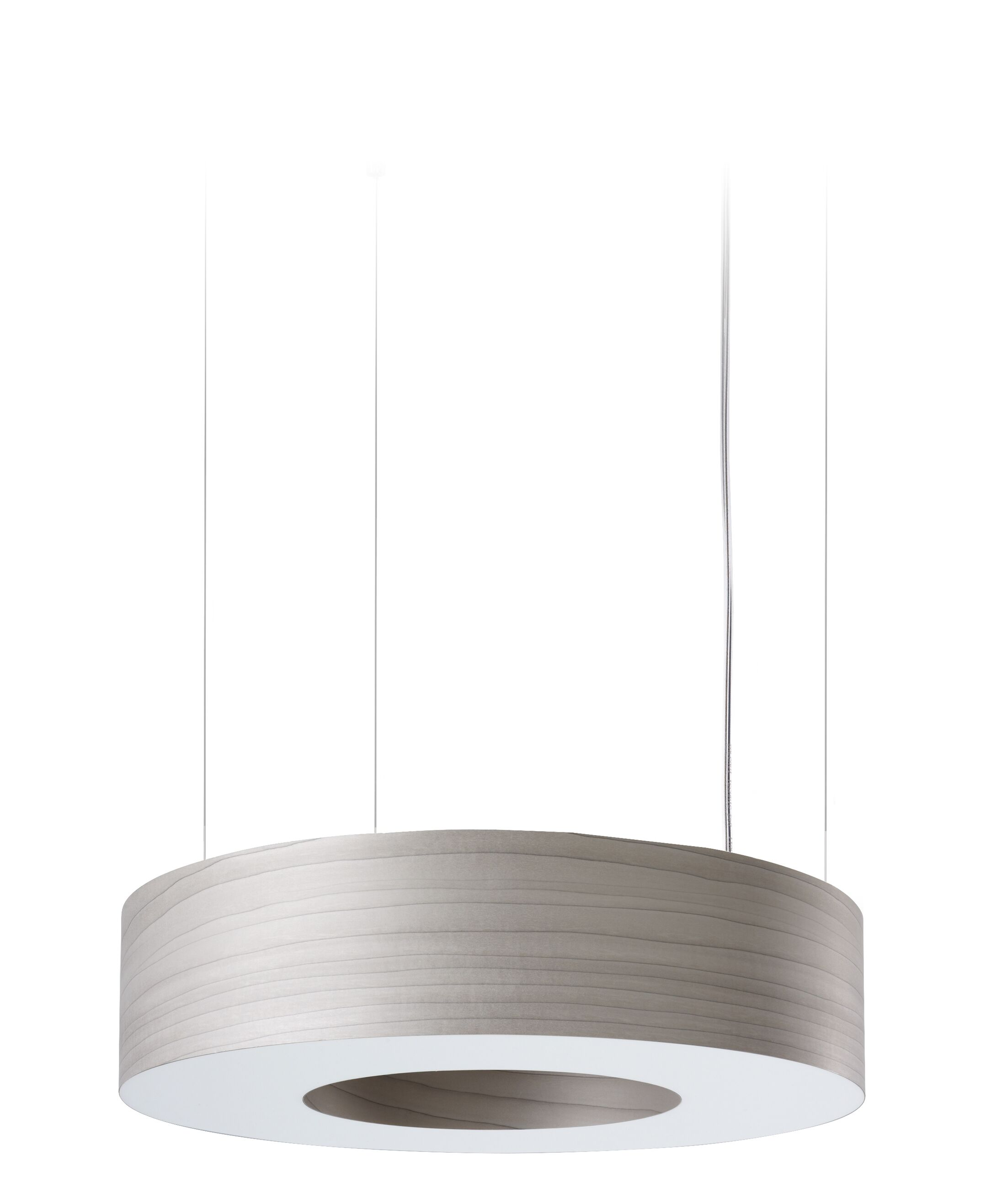 Saturnia LED Drum Pendant Shade Color: Gray, Size: Large