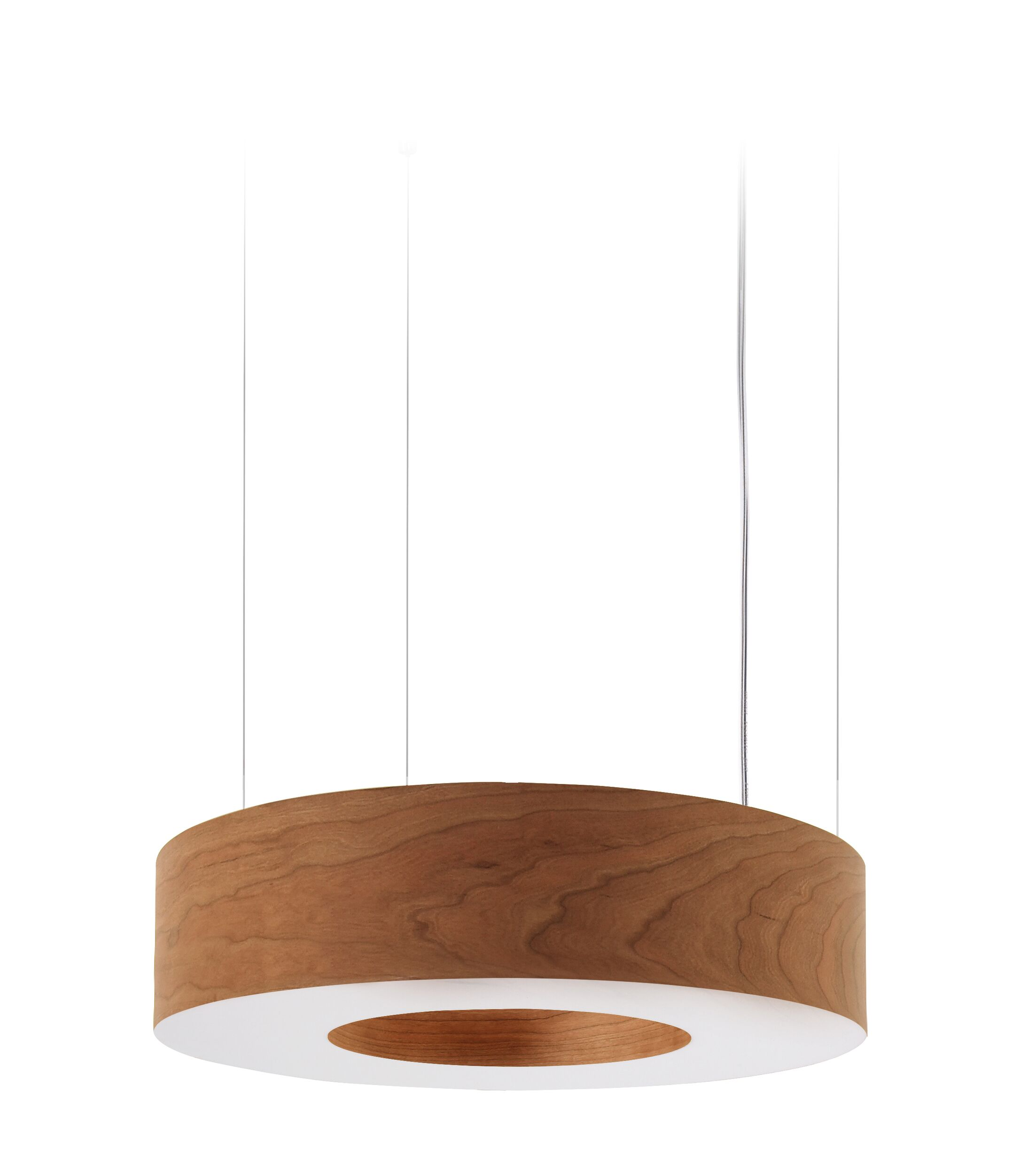 Saturnia LED Drum Pendant Shade Color: Natural Cherry, Size: Small