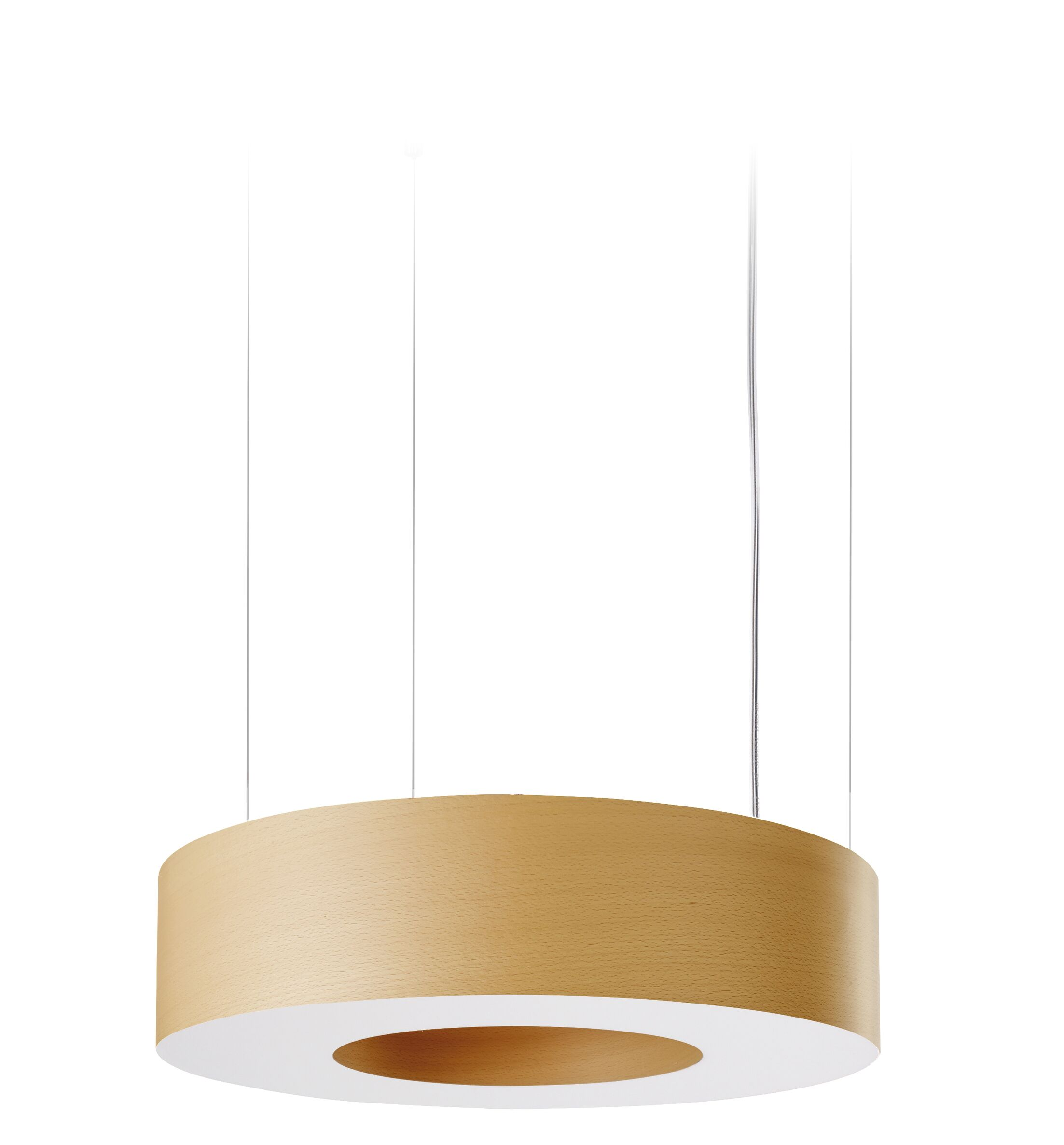 Saturnia LED Drum Pendant Size: Medium, Shade Color: Natural Beech