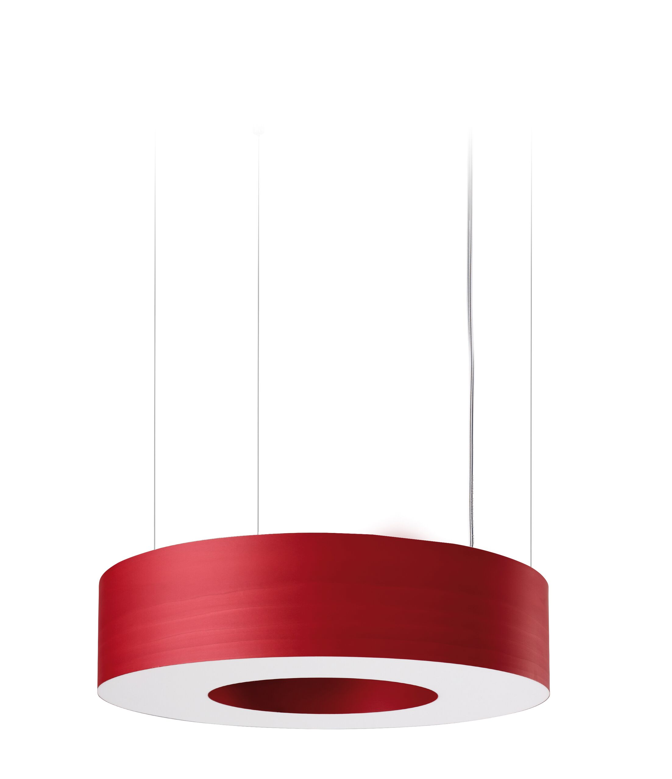 Saturnia LED Drum Pendant Size: Large, Shade Color: Red