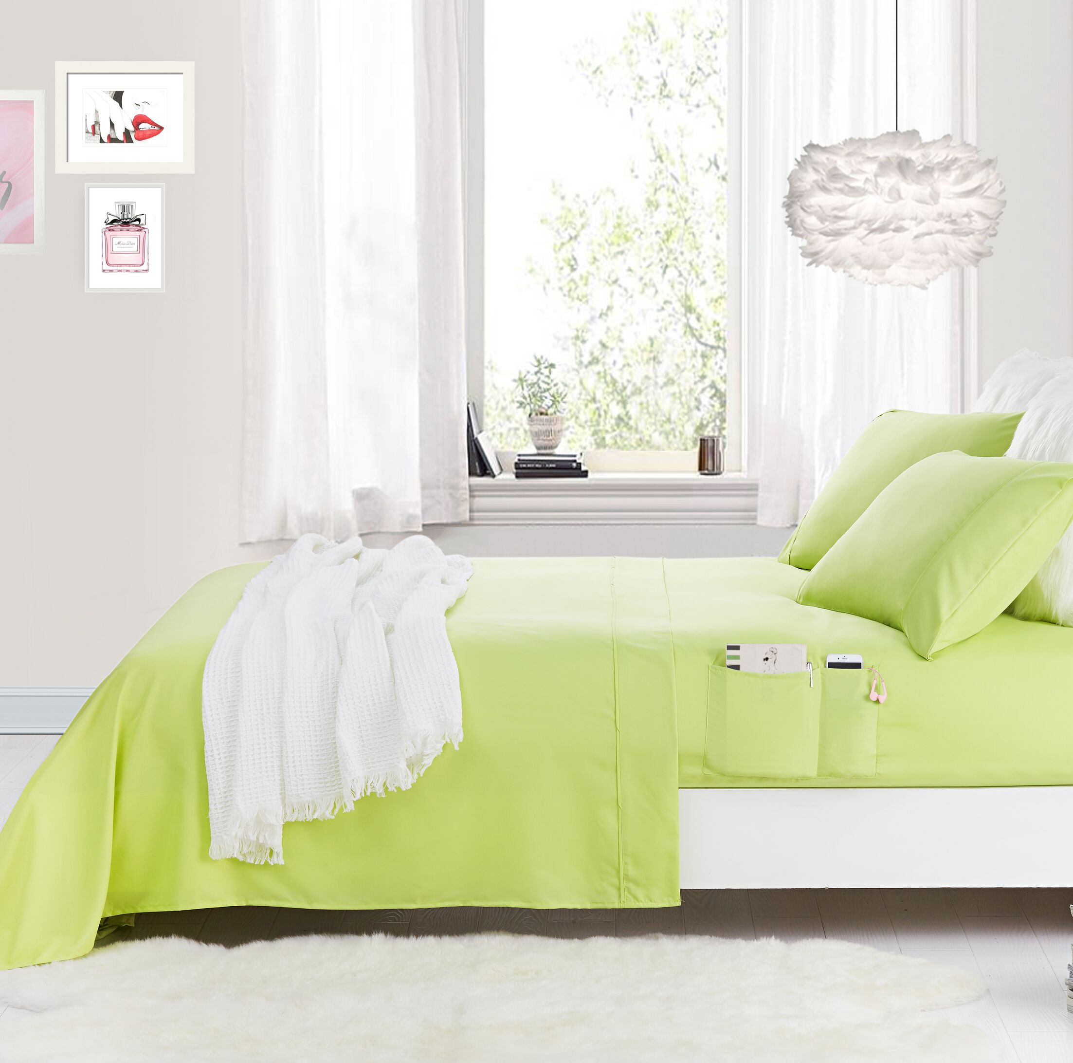Superior Smooth Microfiber Sheet Set Size: Twin Extra Large, Color: Green