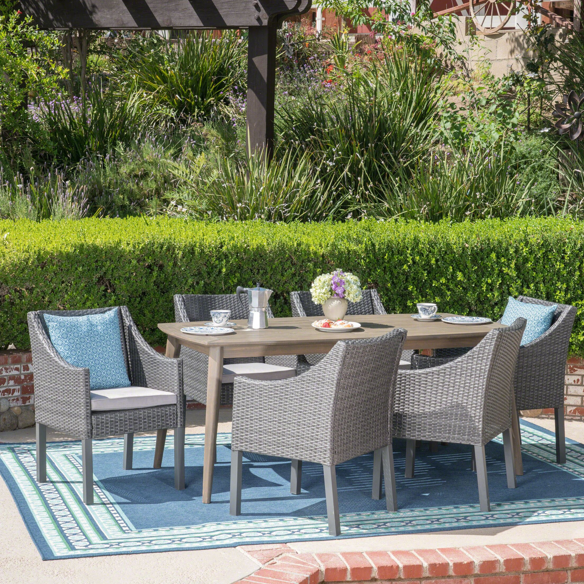 Berghauser 7 Piece Dining Set with Cushions