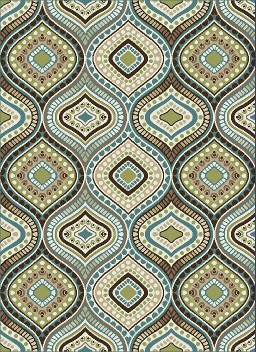 Clint Contemporary Brown/Green Area Rug Rug Size: Rectangle 7'10
