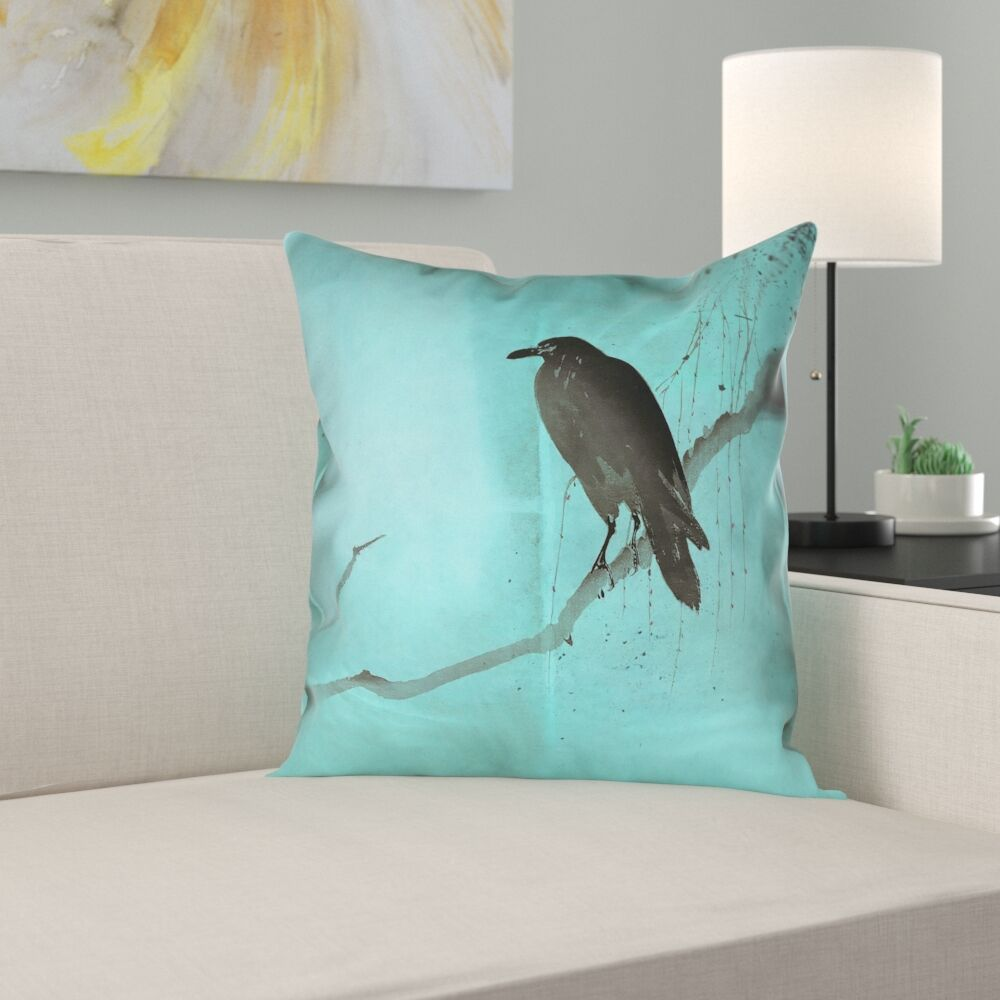 Hansard Crow and Willow Double Sided Print Pillow Cover Size: 20