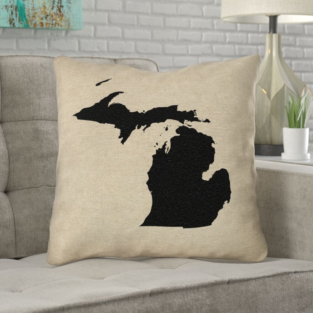 Austrinus Michigan Outdoor Throw Pillow Size: 20