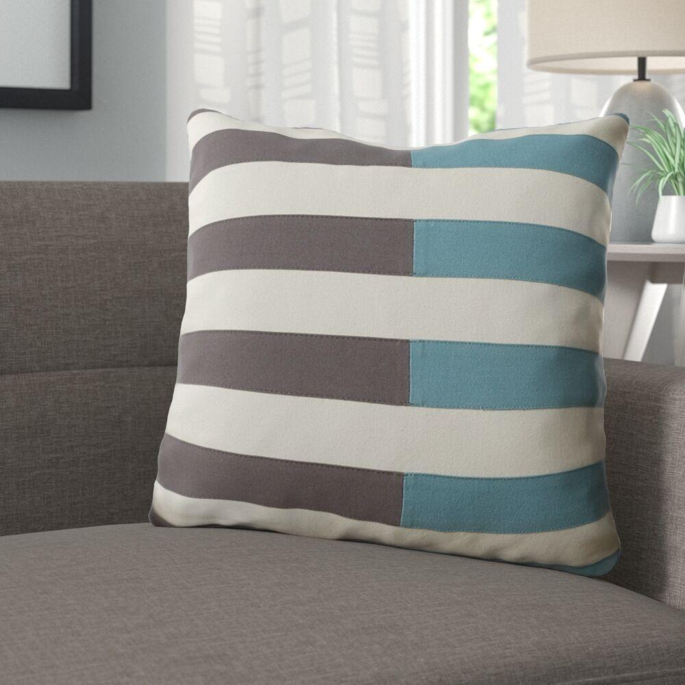 Mayne 100% Cotton Throw Pillow Size: 22