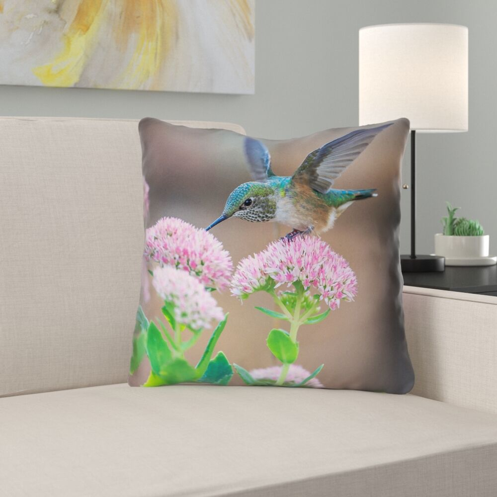Holte Hummingbird Throw Pilliow Size: 26