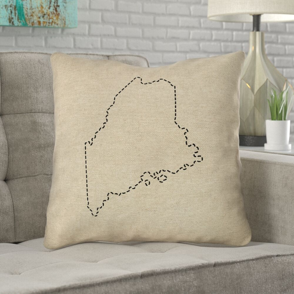 Austrinus Maine Double Sided Print Square Throw Pillow Size: 18