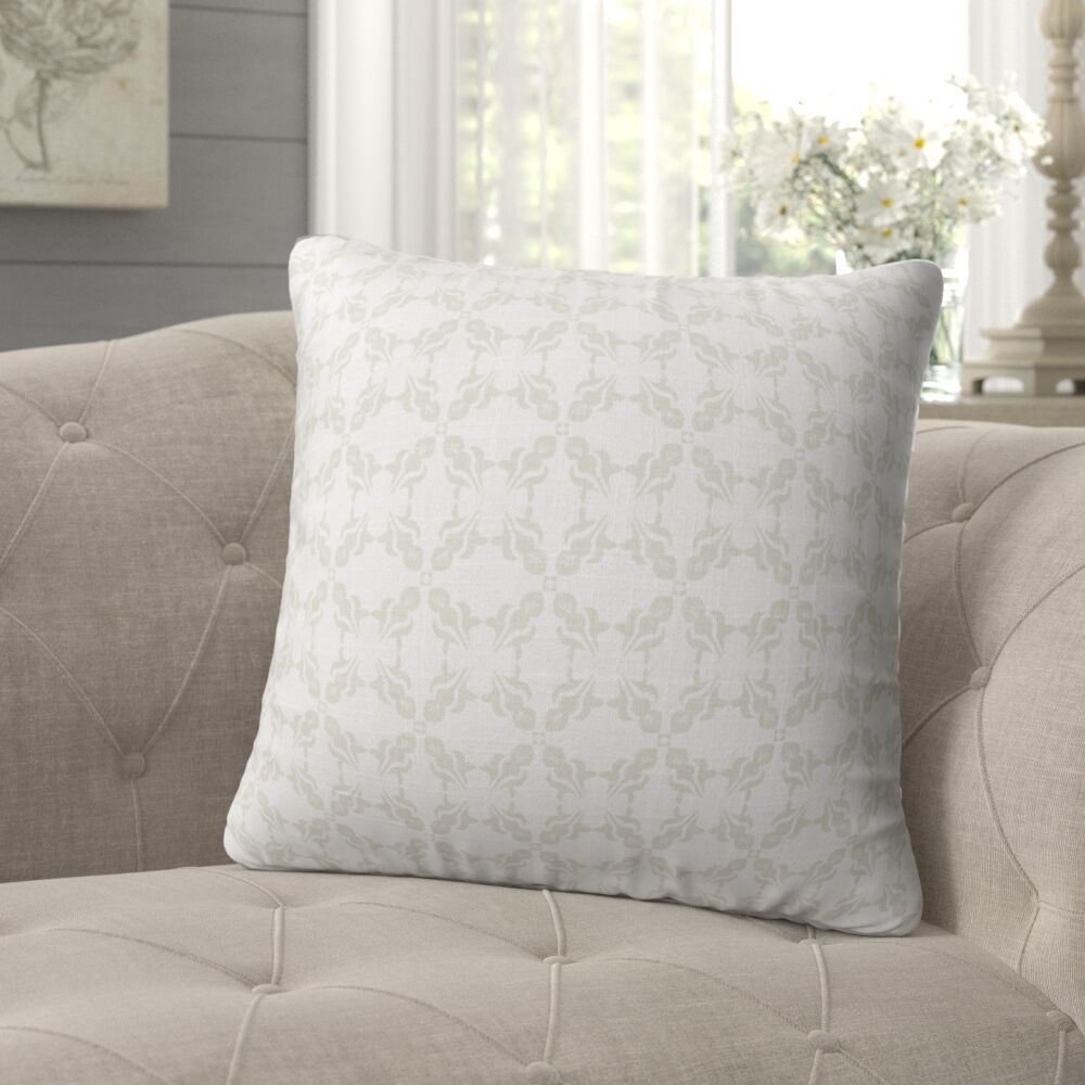 Warne Soft Repeat Throw Pillow Size: 18
