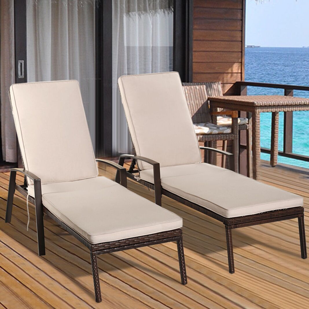 Vargas Patio Rattan Lounge Chair with Cushion