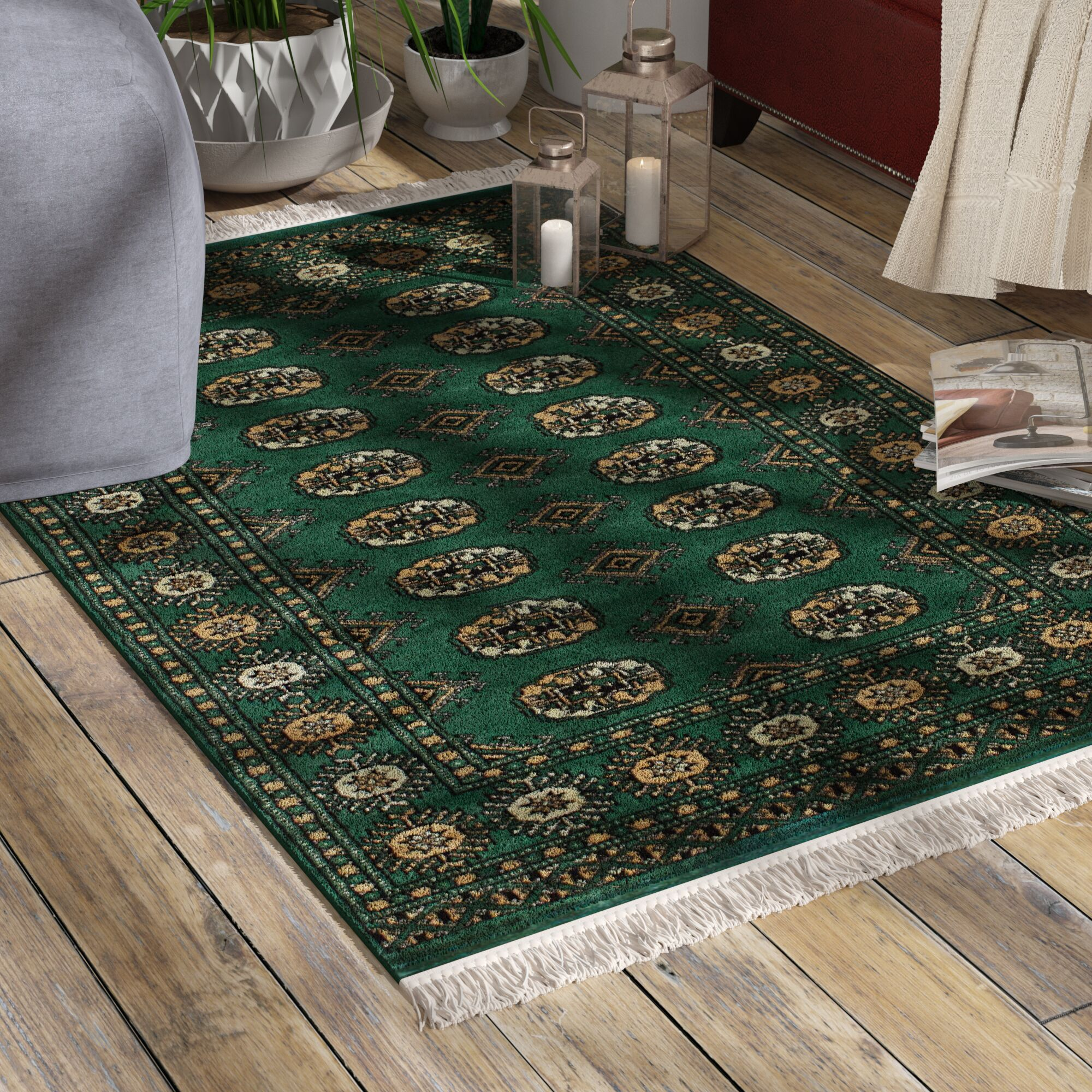 One-of-a-Kind Do Hand-Knotted Wool Green Indoor Area Rug