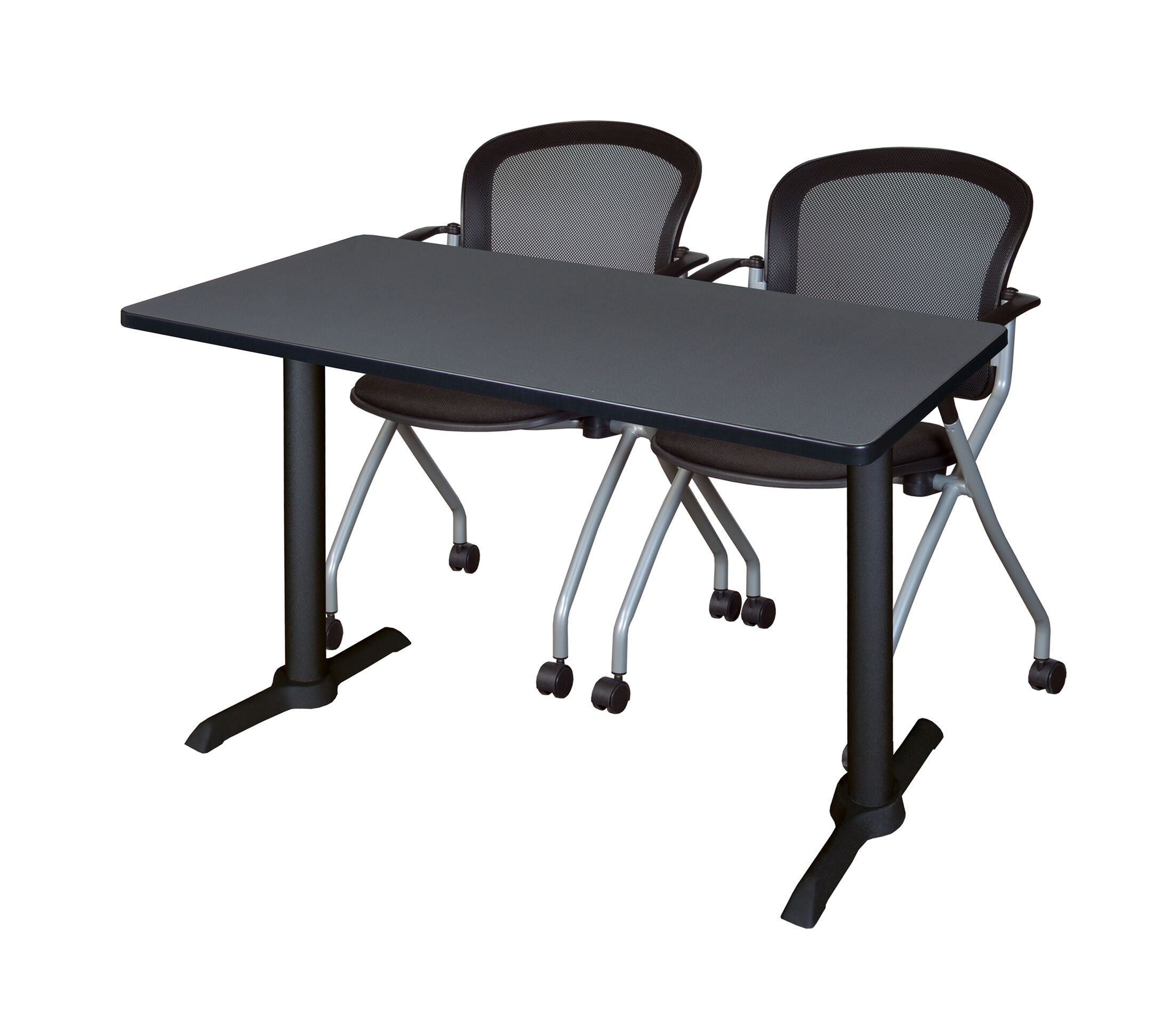 Vargas Training Table with Wheels Size: 29