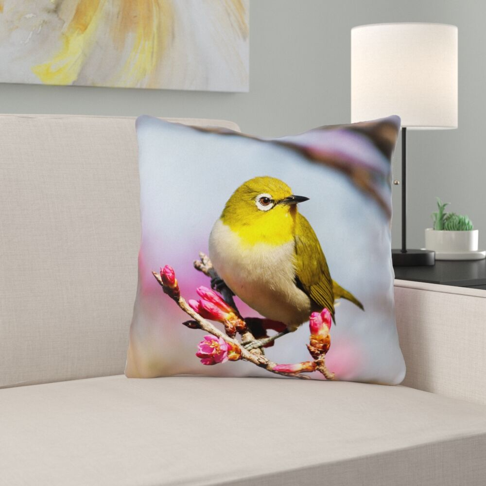Holston Bird Double Sided Print Pillow Cover Size: 20