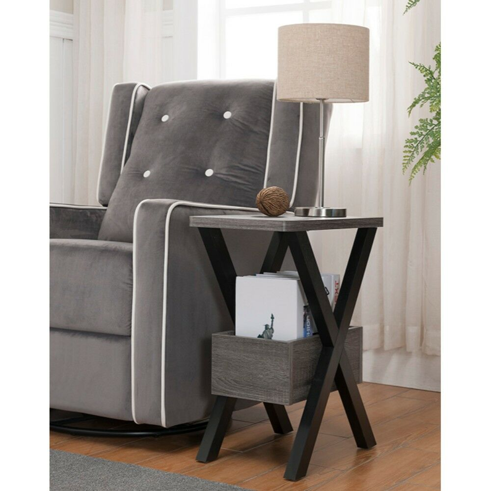 Hooks Wooden Chairside End Table