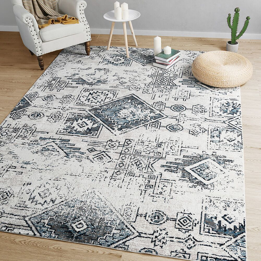 Rosenthal Distressed Gray Area Rug Rug Size: Rectangle 5' x 7'