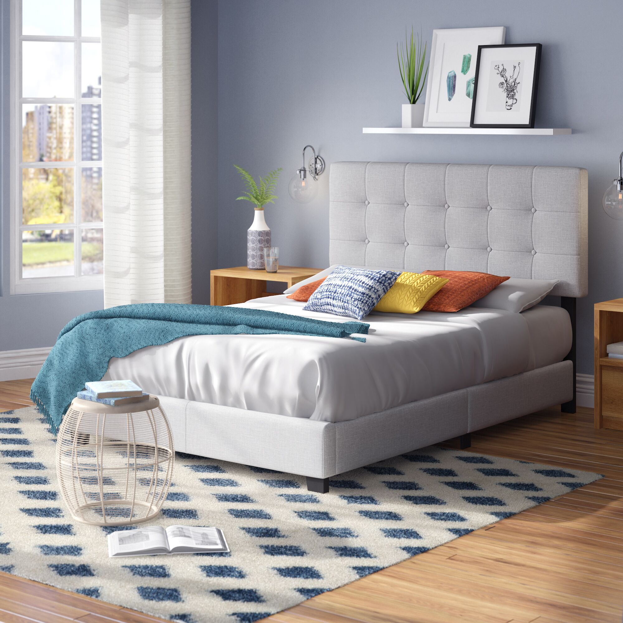 Janicki Upholstered Panel Bed Size: Twin