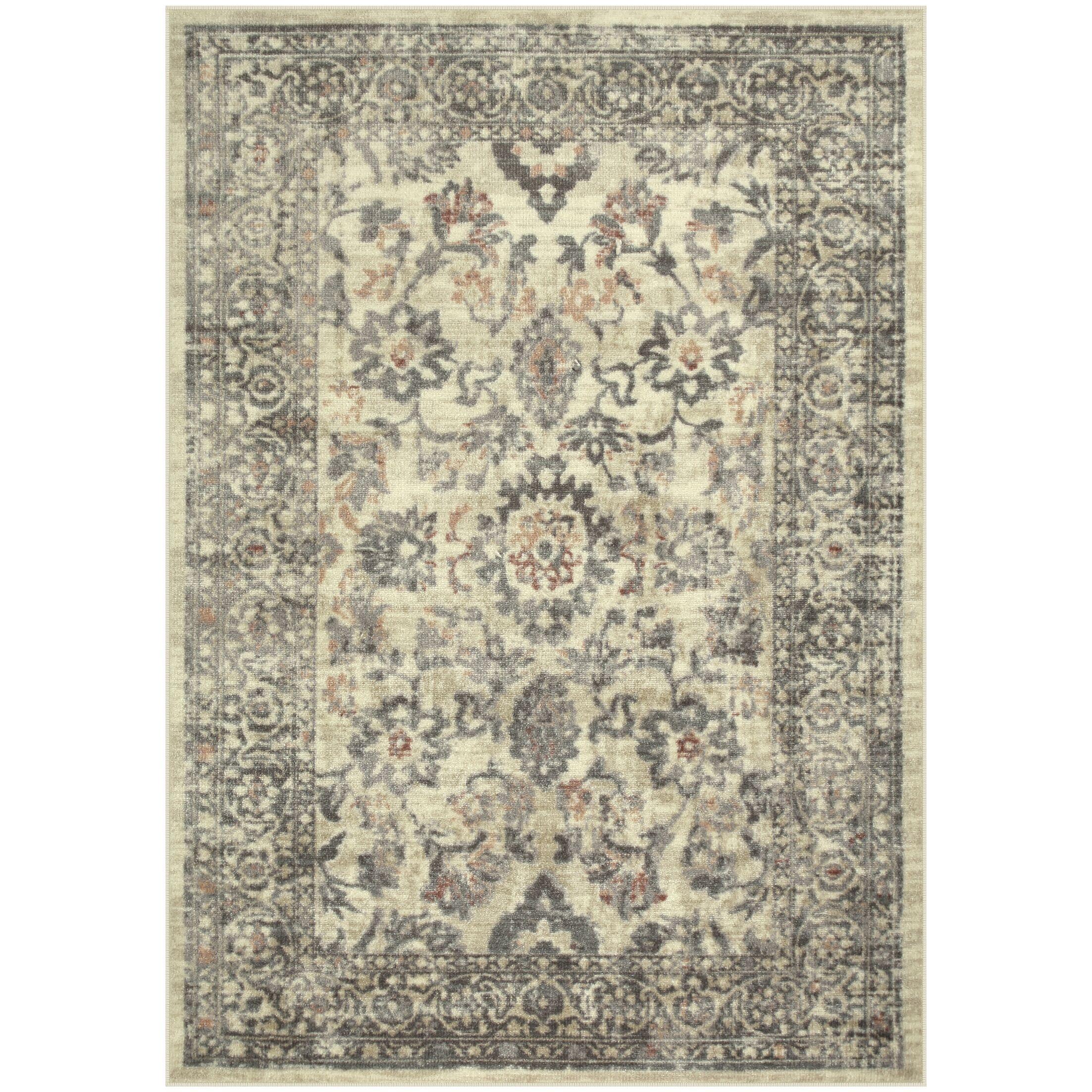 Mandalay Gray/Tan Area Rug Rug Size: Rectangle 5' x 7'