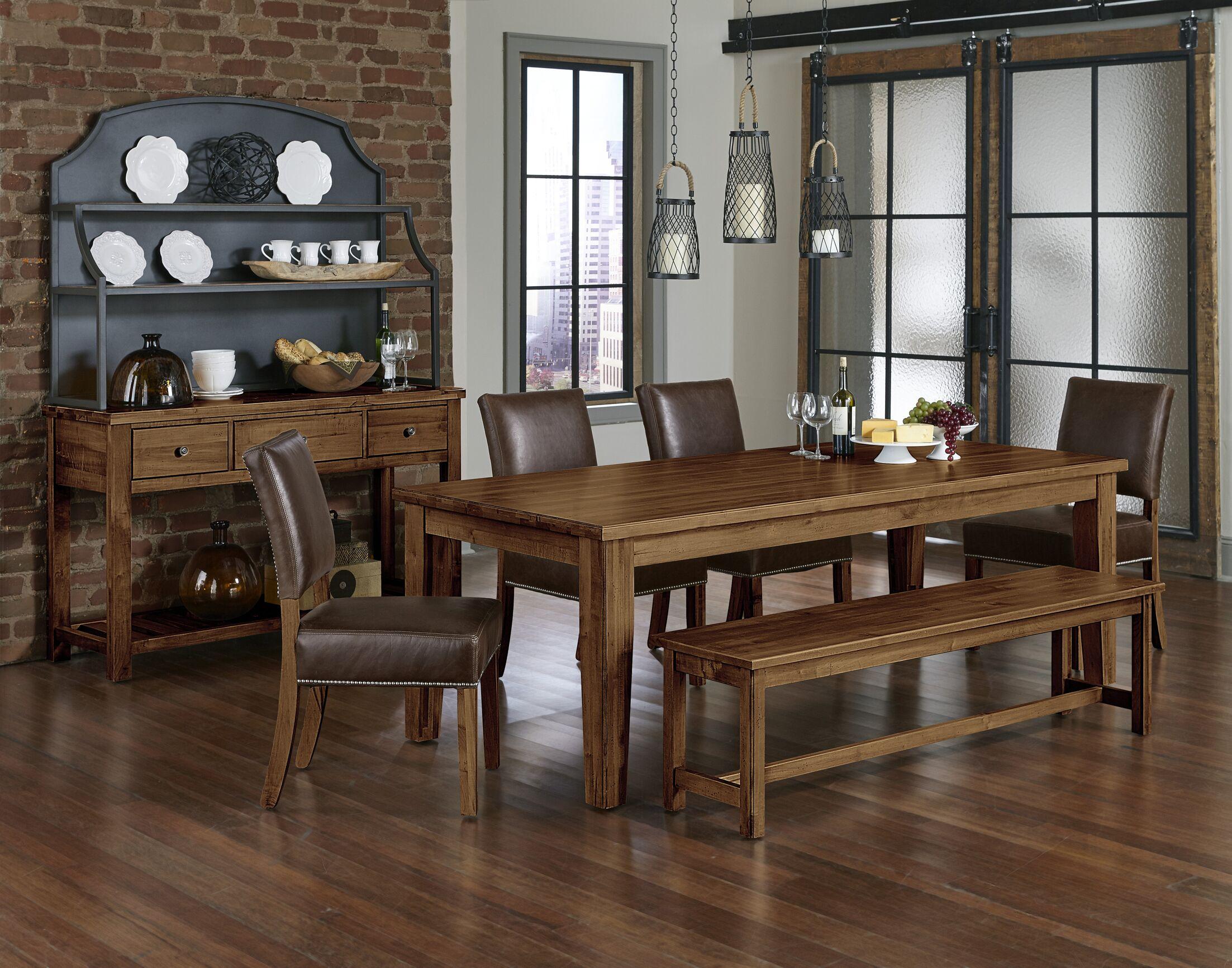 Rader 6 Piece Solid Wood Dining Set