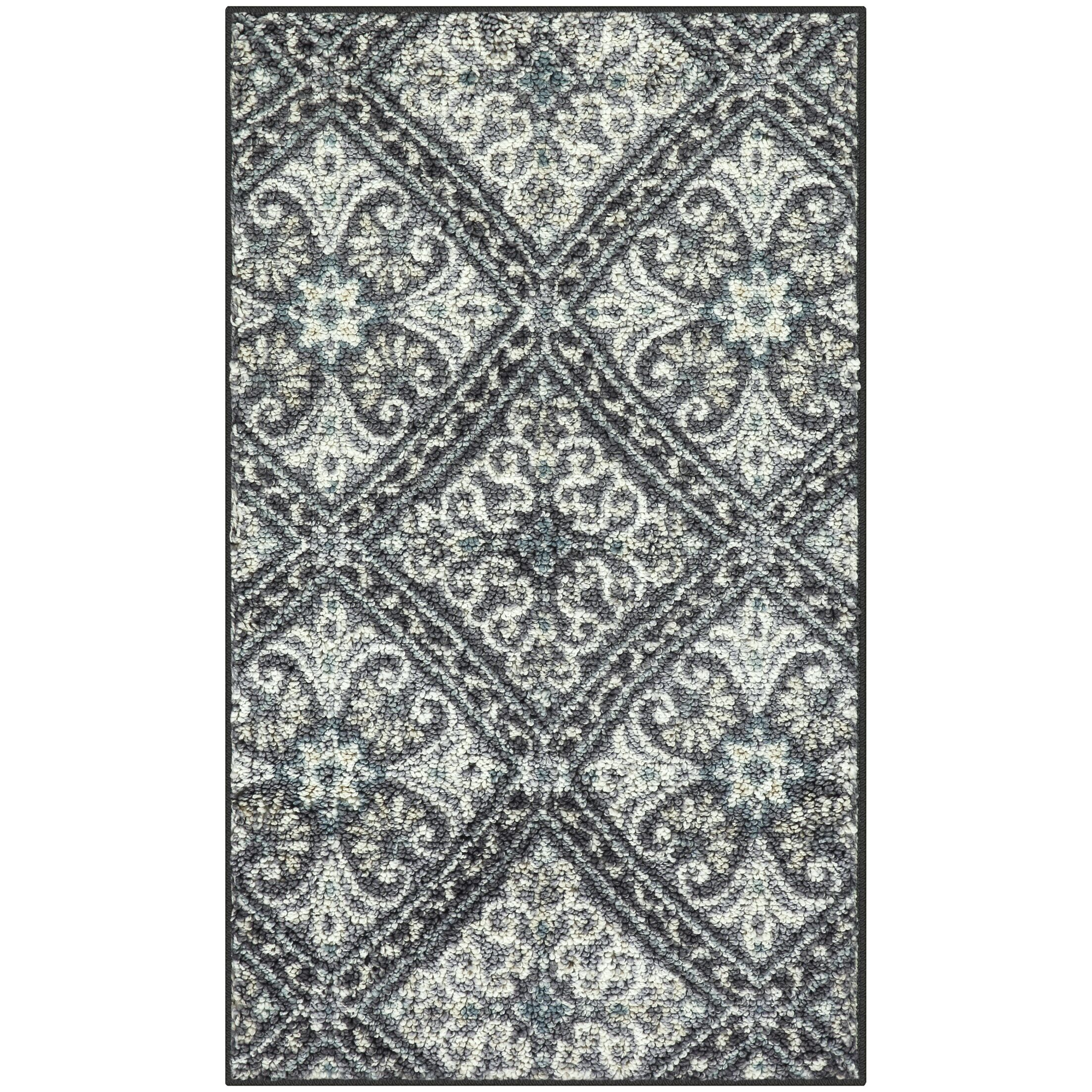 Borquez Gray/Blue Area Rug Rug Size: Rectangle 5' x 7'