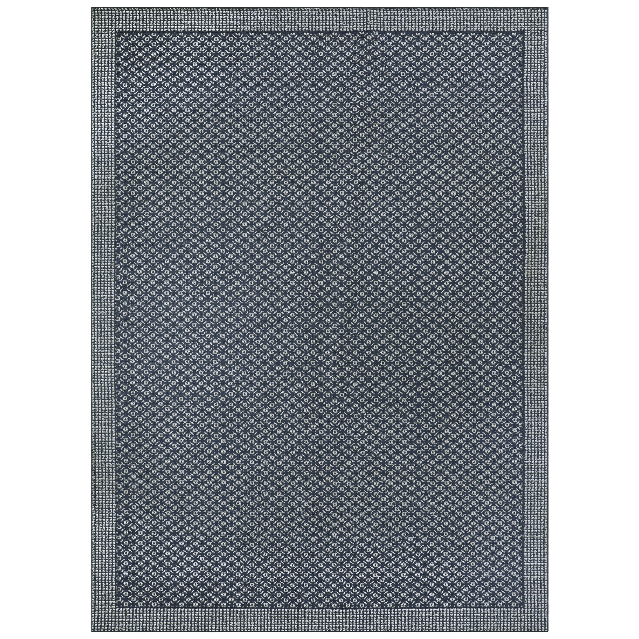Ohlone Navy Area Rug Rug Size: Rectangle 7' x 10'
