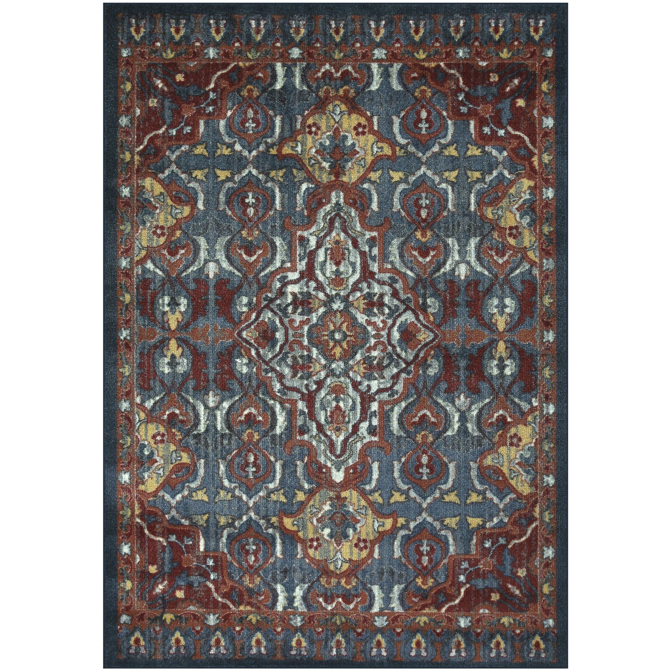 Oakdale Red/Blue Area Rug Rug Size: Rectangle 5' x 7'