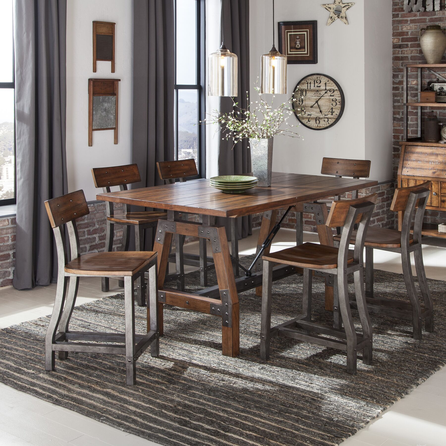 Dining Table Sets Hawkinge 7 Piece Counter Height Dining Set