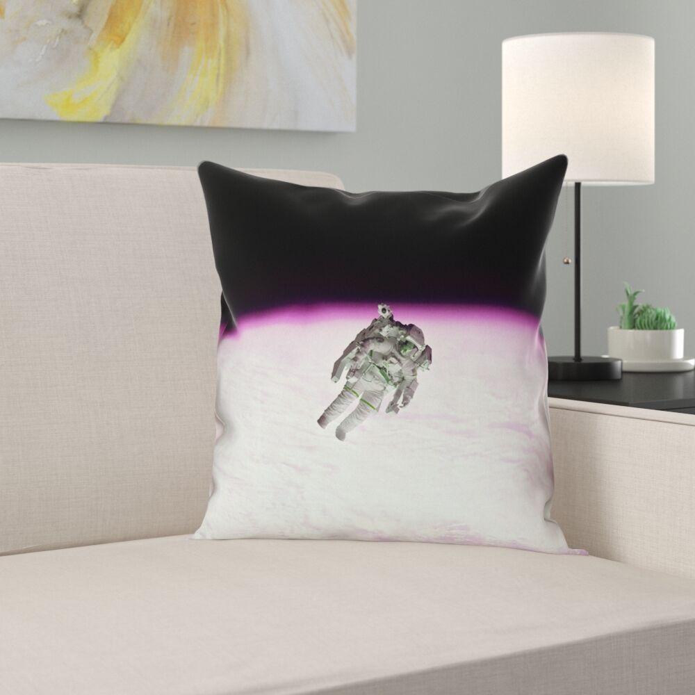 Hansard Astronaut 100% Cotton Pillow Cover Size: 20