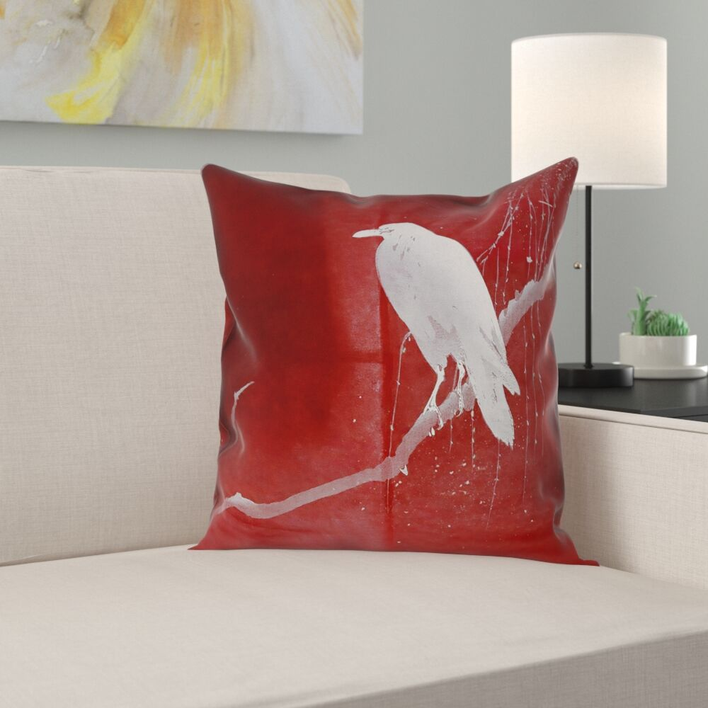 Hansard Crow and Willow 100% Cotton Pillow Cover Size: 20
