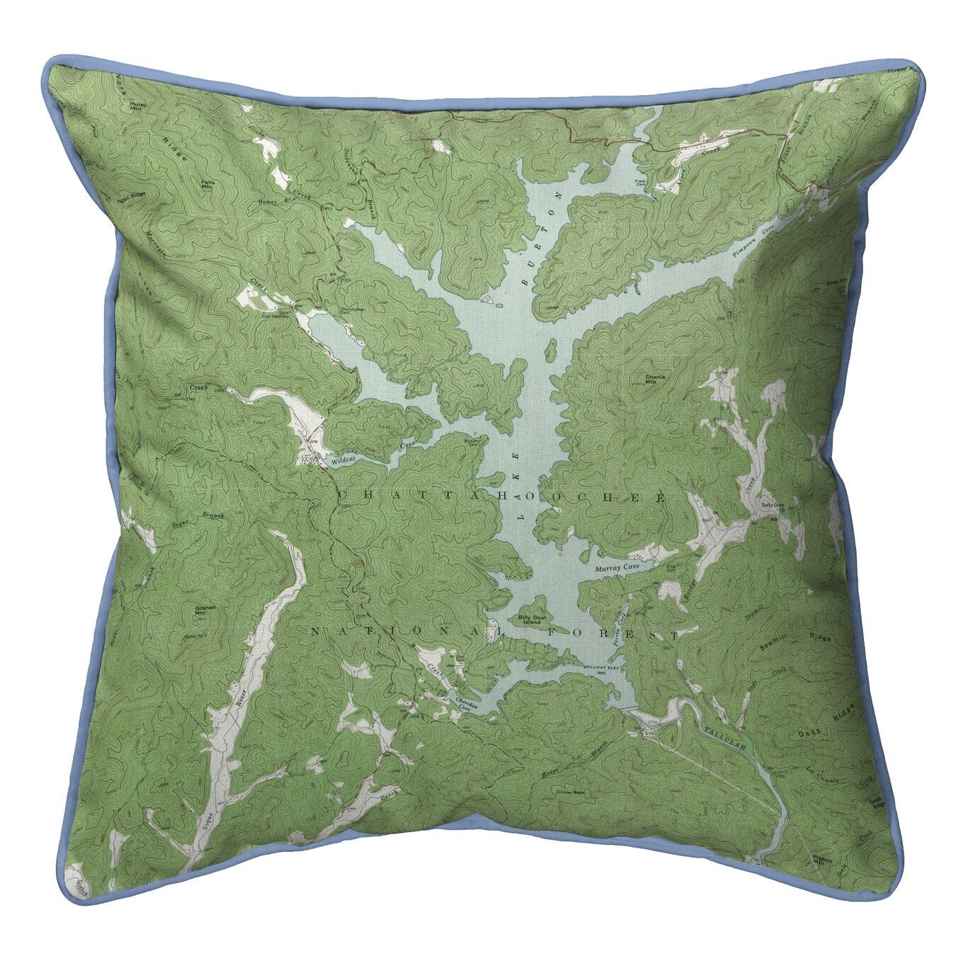 Burton Lake GA Corded Indoor/Outdoor Throw Pillow Size: 18