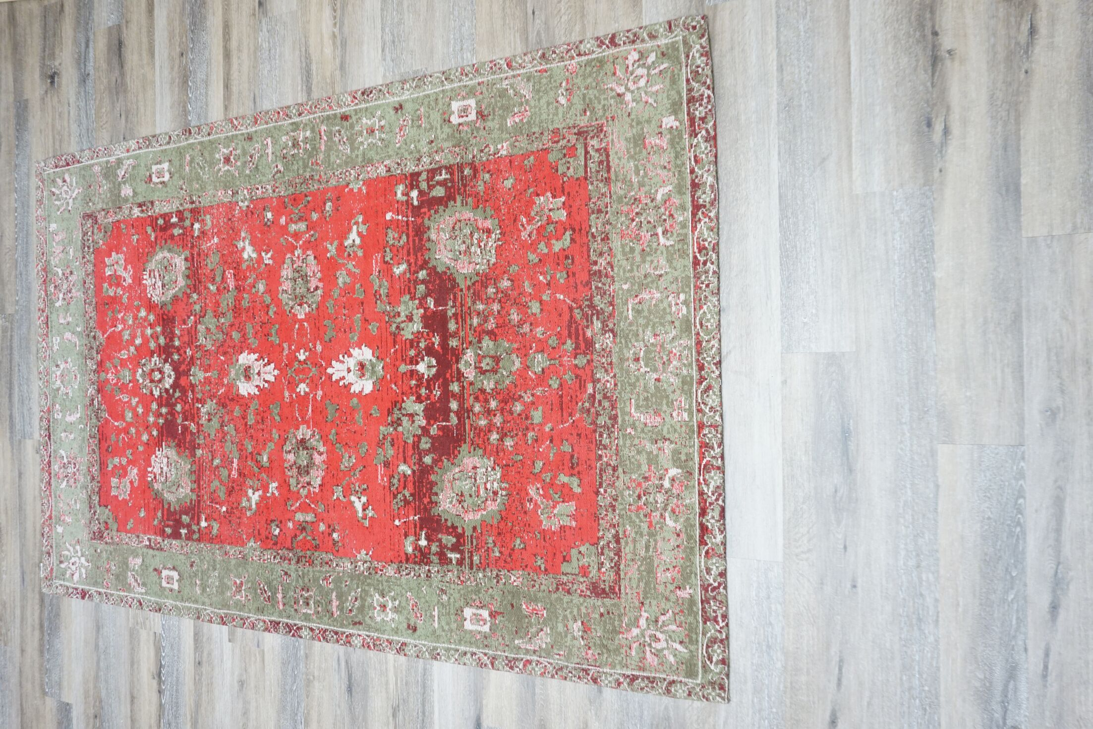 Michaela Cotton/Polyester Red Area Rug Rug Size: Rectangle 5' x 8'