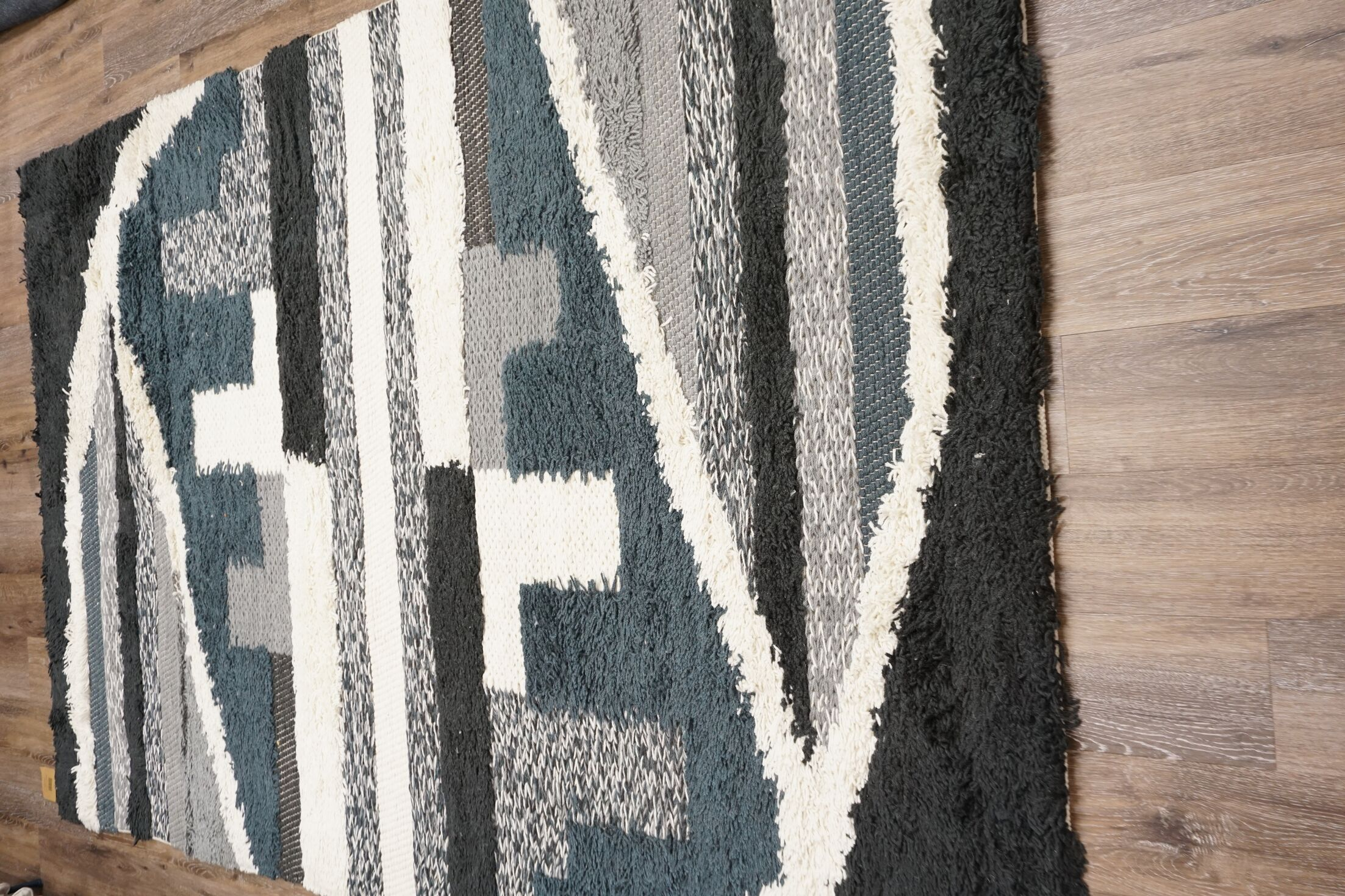 Bingham Cotton/Polyester Gray Area Rug Rug Size: Rectangle 8' x 10'