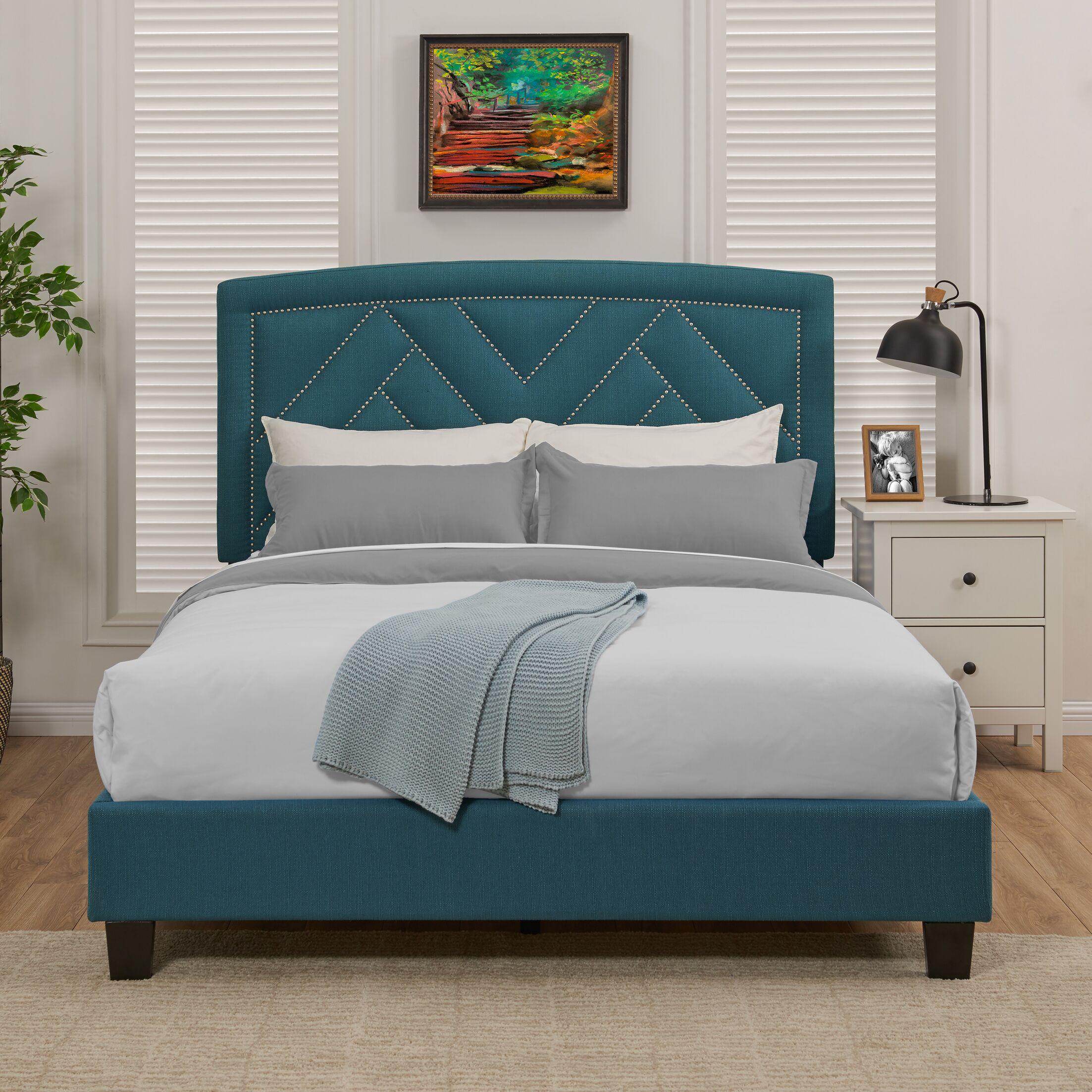 Juri Queen Upholstered Panel Bed